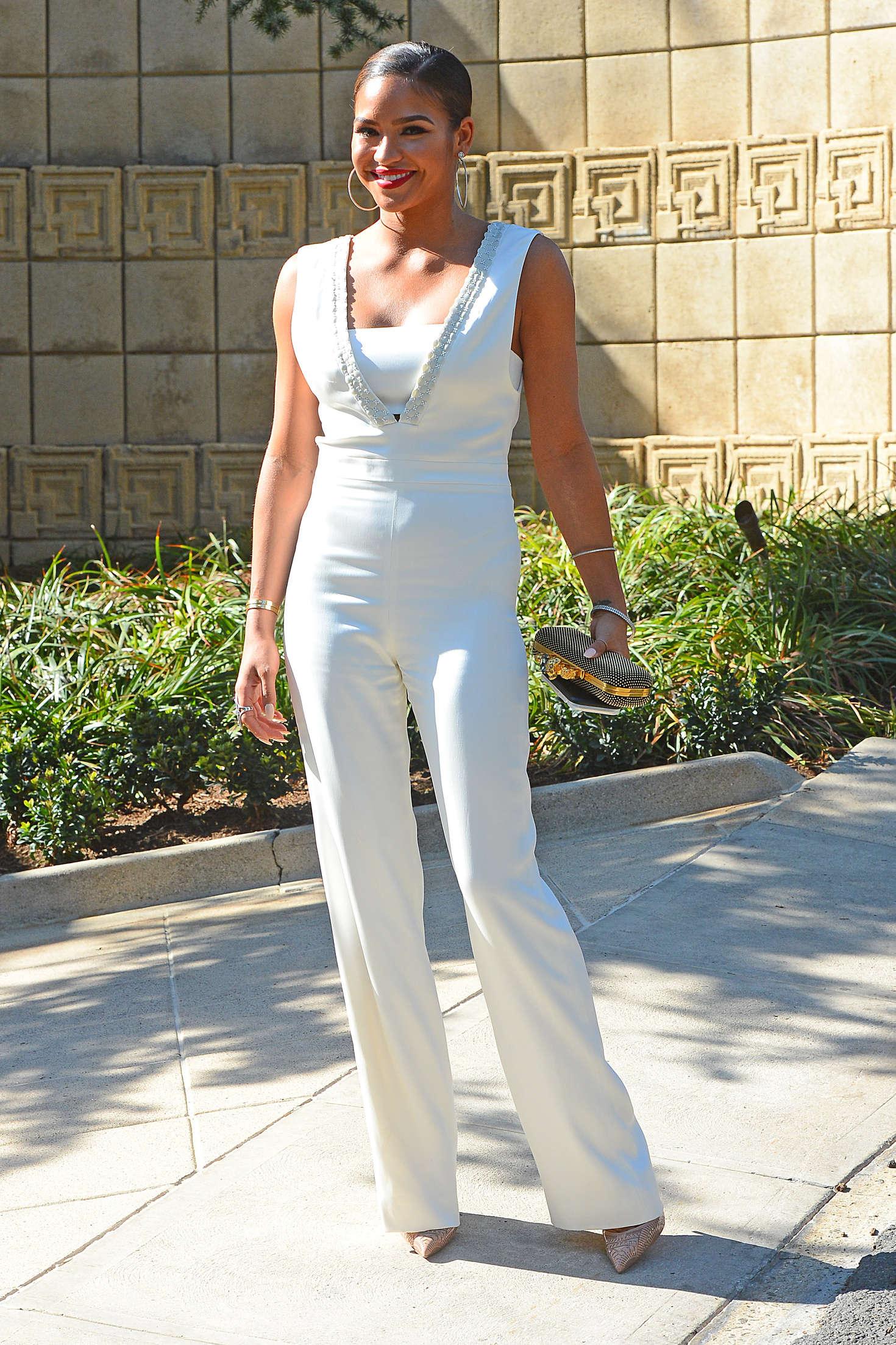 Cassie Ventura Attends the M.A.C Cosmetics Zac Posen Luncheon in Los Angeles