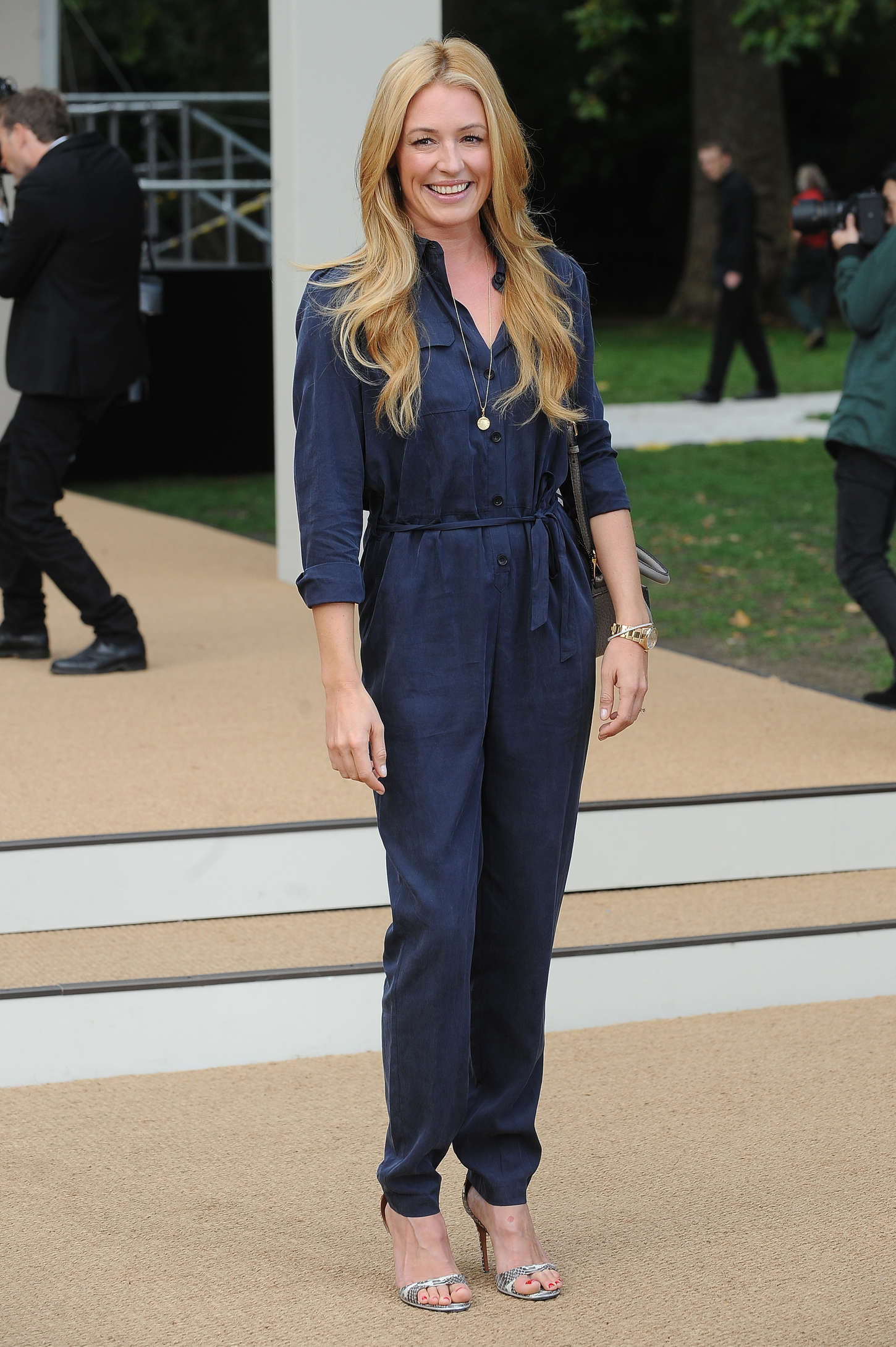 Cat Deeley Burberry Prorsum Show SS London Fashion Week