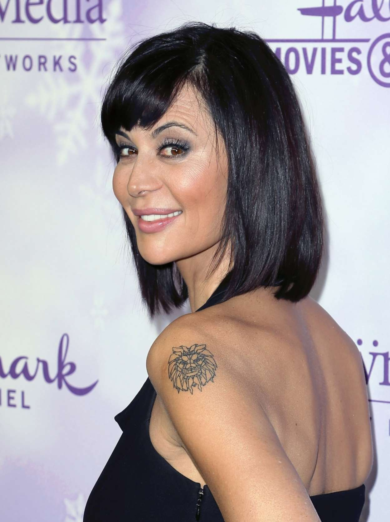 Catherine Bell Hallmark Channel #Winterfest party at the Winter TCA Tour in California