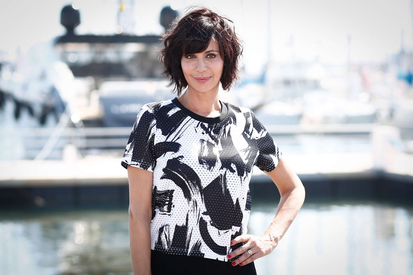 Catherine Bell The Good Witch Photocall at MIPTV in Cannes