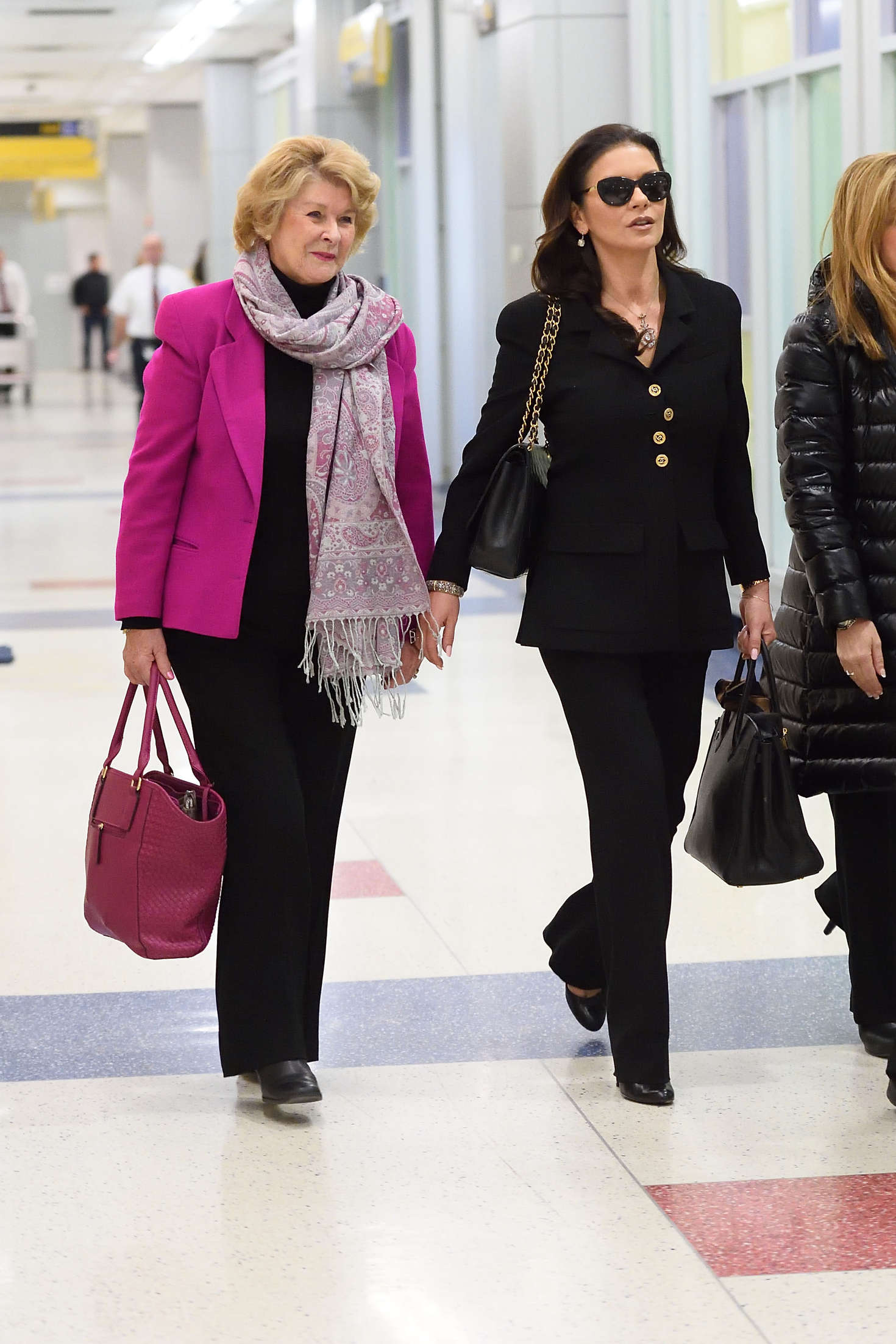 Catherine Zeta Jones Arrives at JFK Airport in New York
