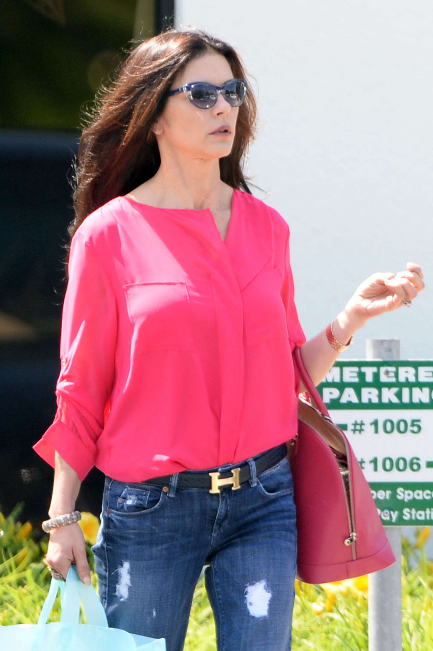 Catherine Zeta Jones out in New York