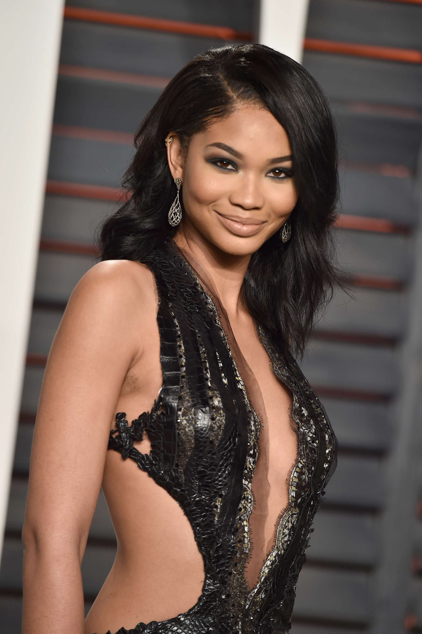 Chanel Iman Vanity Fair Oscar Party in Beverly Hills