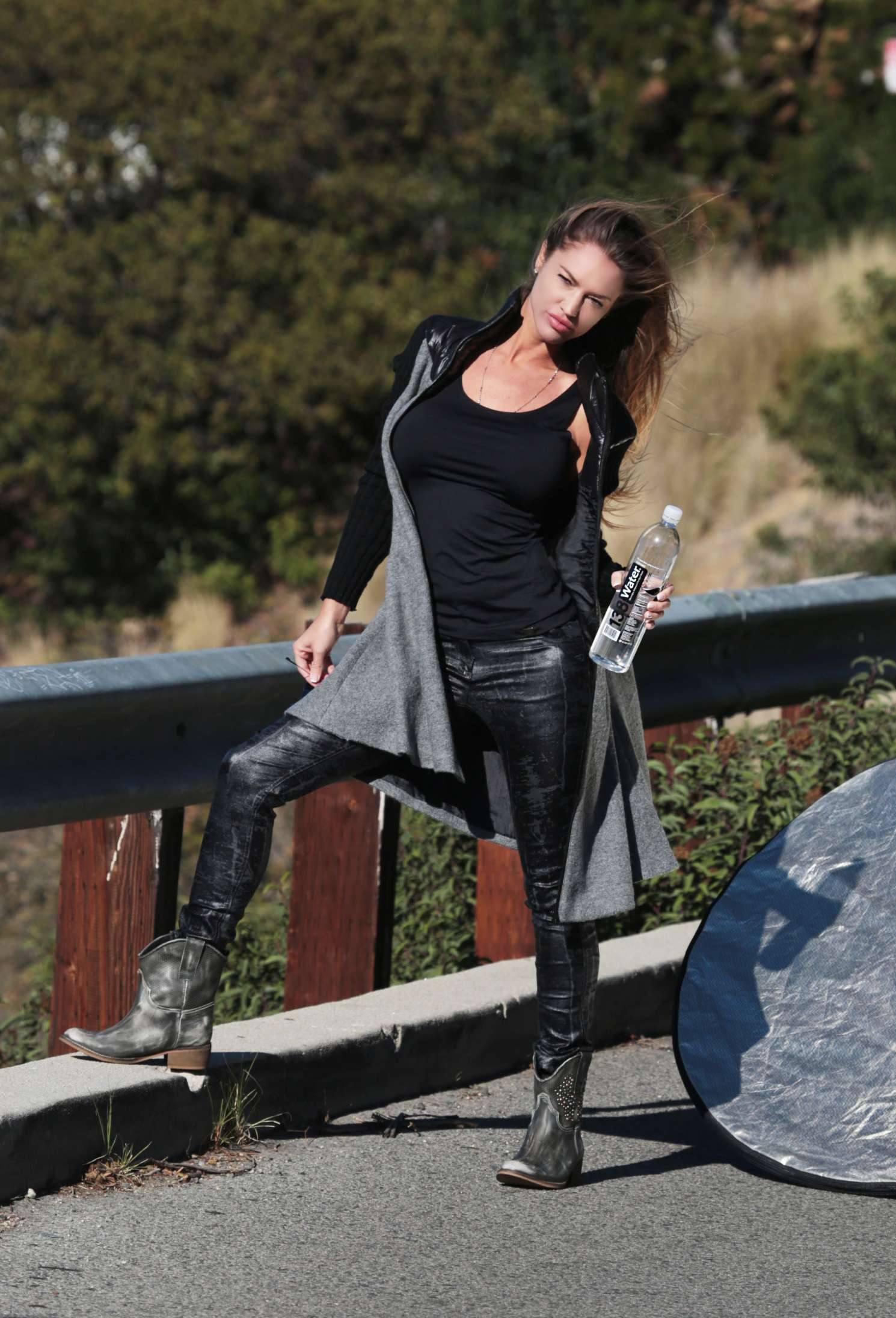 Charlie Riina In Leather for Water and NU Denmark clothing shoot in West Hollywood