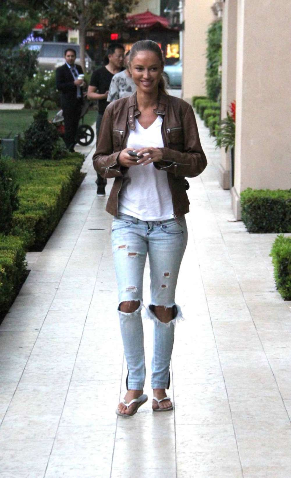 Charlie Riina in Ripped Jeans out in Beverly Hills