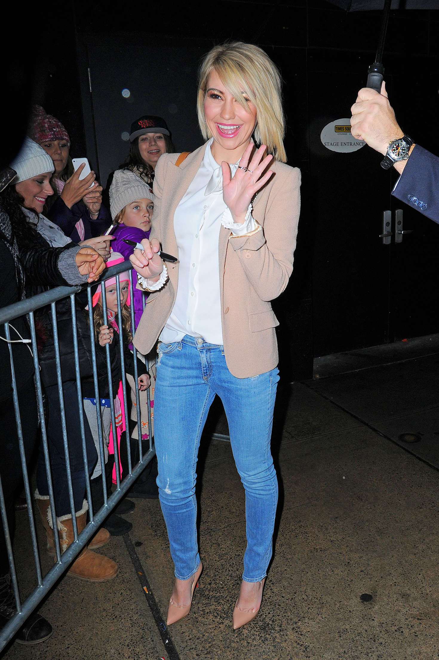 Chelsea Kane Arrives at Good Morning America in New York