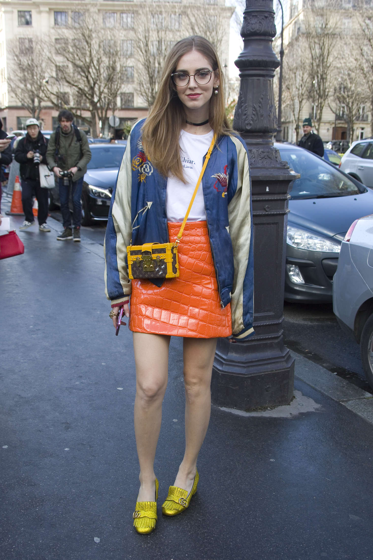 Chiara Ferragni Arriving the Giambattista Valli Fashion Show in Paris