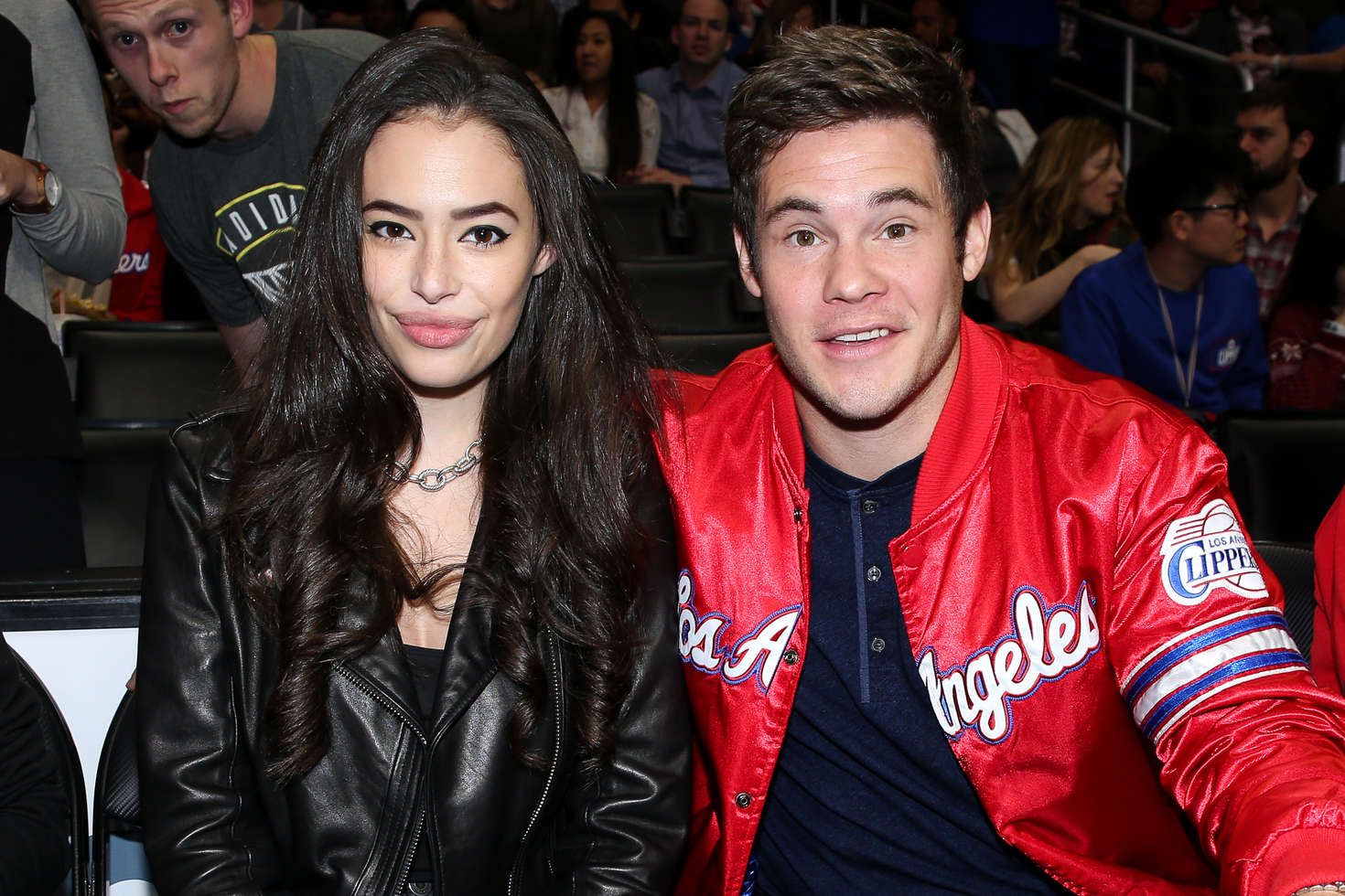 Chloe Bridges at Los Angeles Clippers Game in Los Angeles