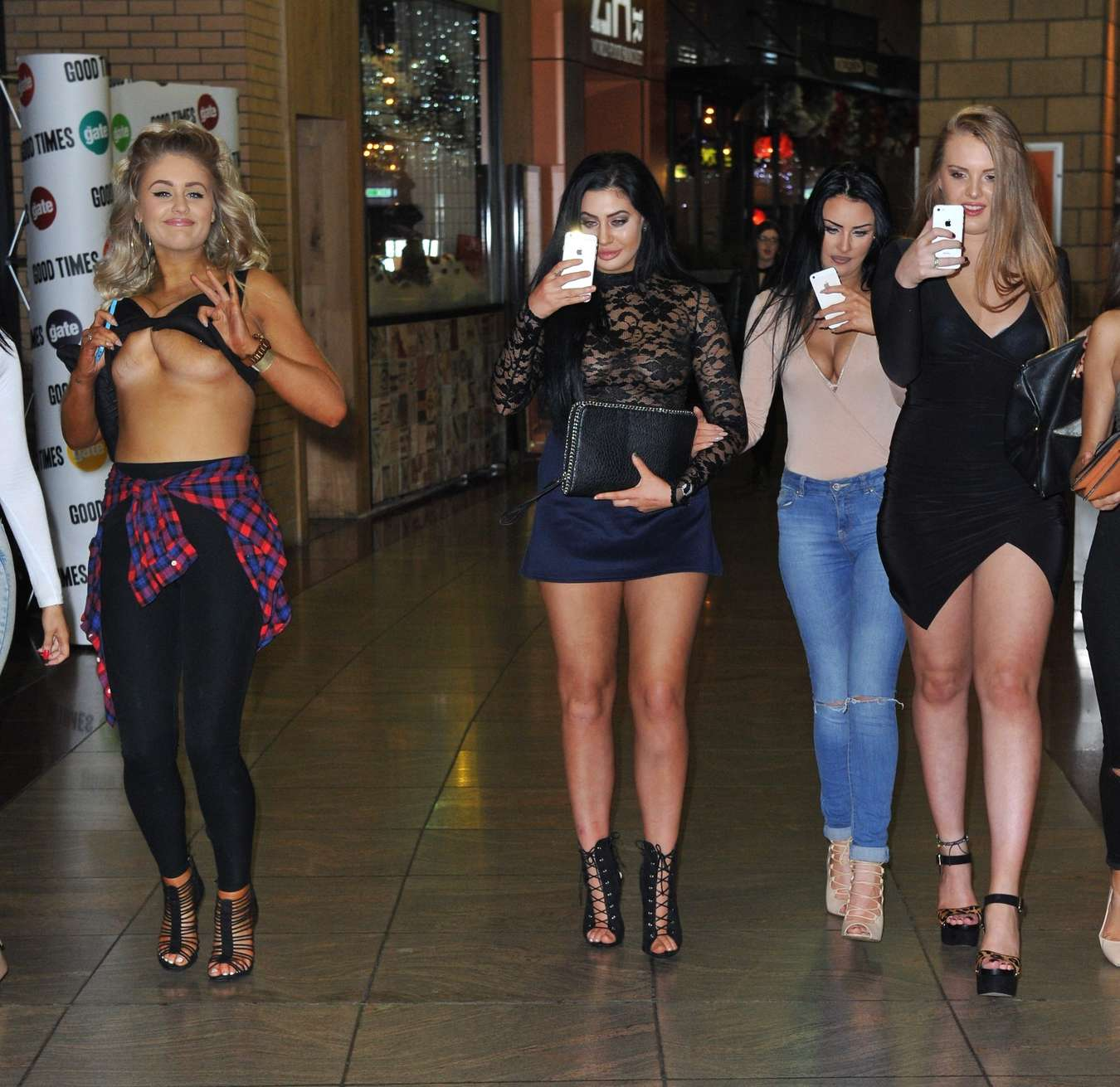 Chloe Ferry Night Out in Newcastle