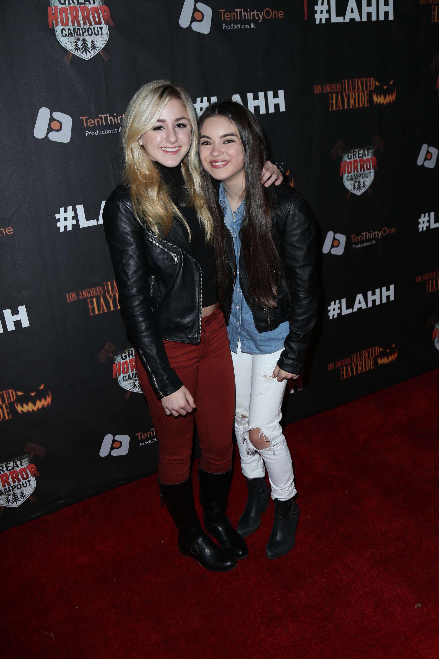 Chloe Lukasiak Los Angeles Haunted Hayride Black Carpet Premiere Night