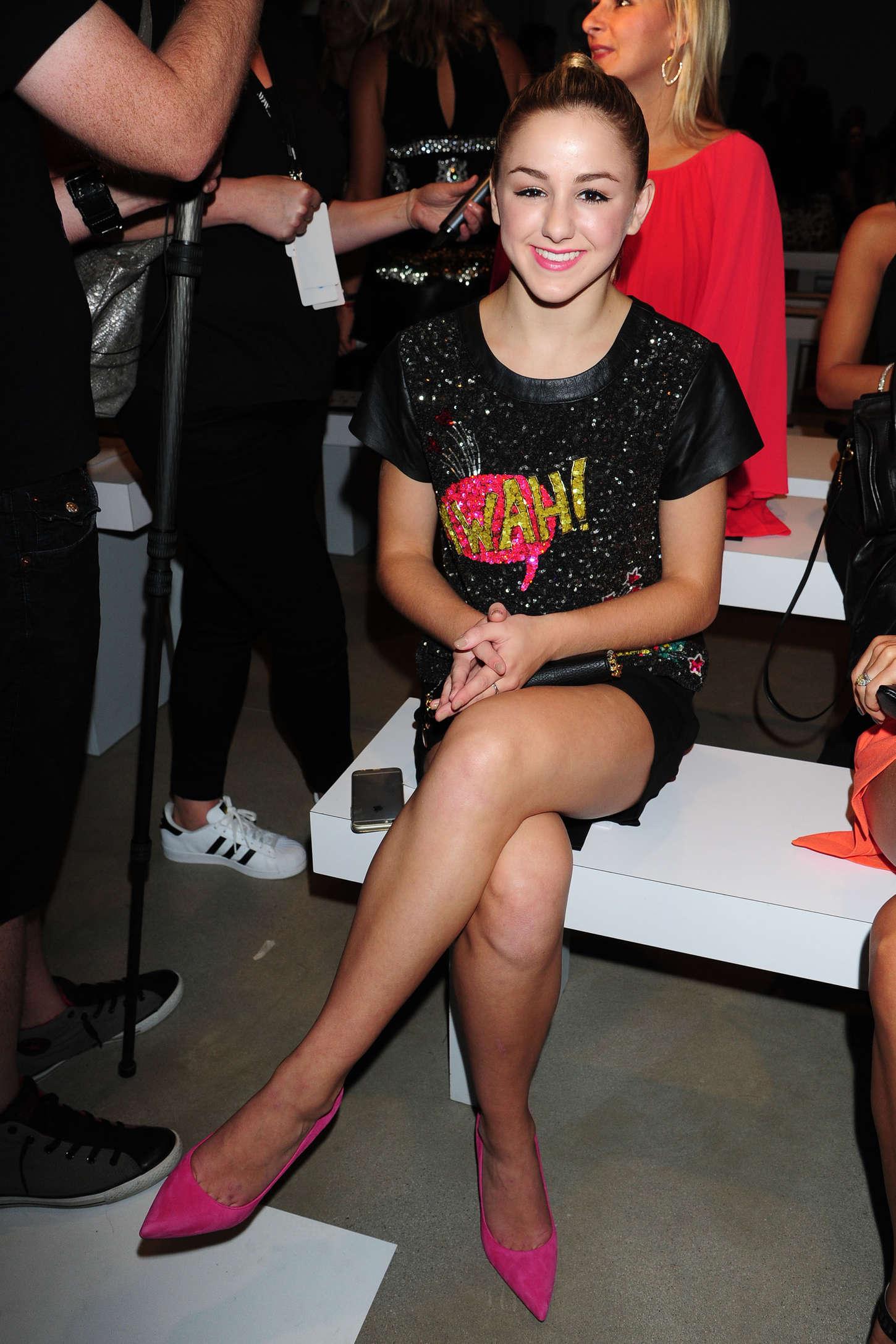 Chloe Lukasiak Nicole Miller Fashion Show Spring NYFW in New York