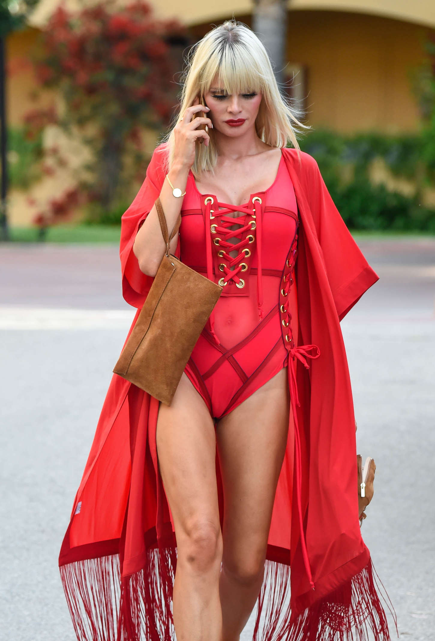 Chloe Sims out in Marbella