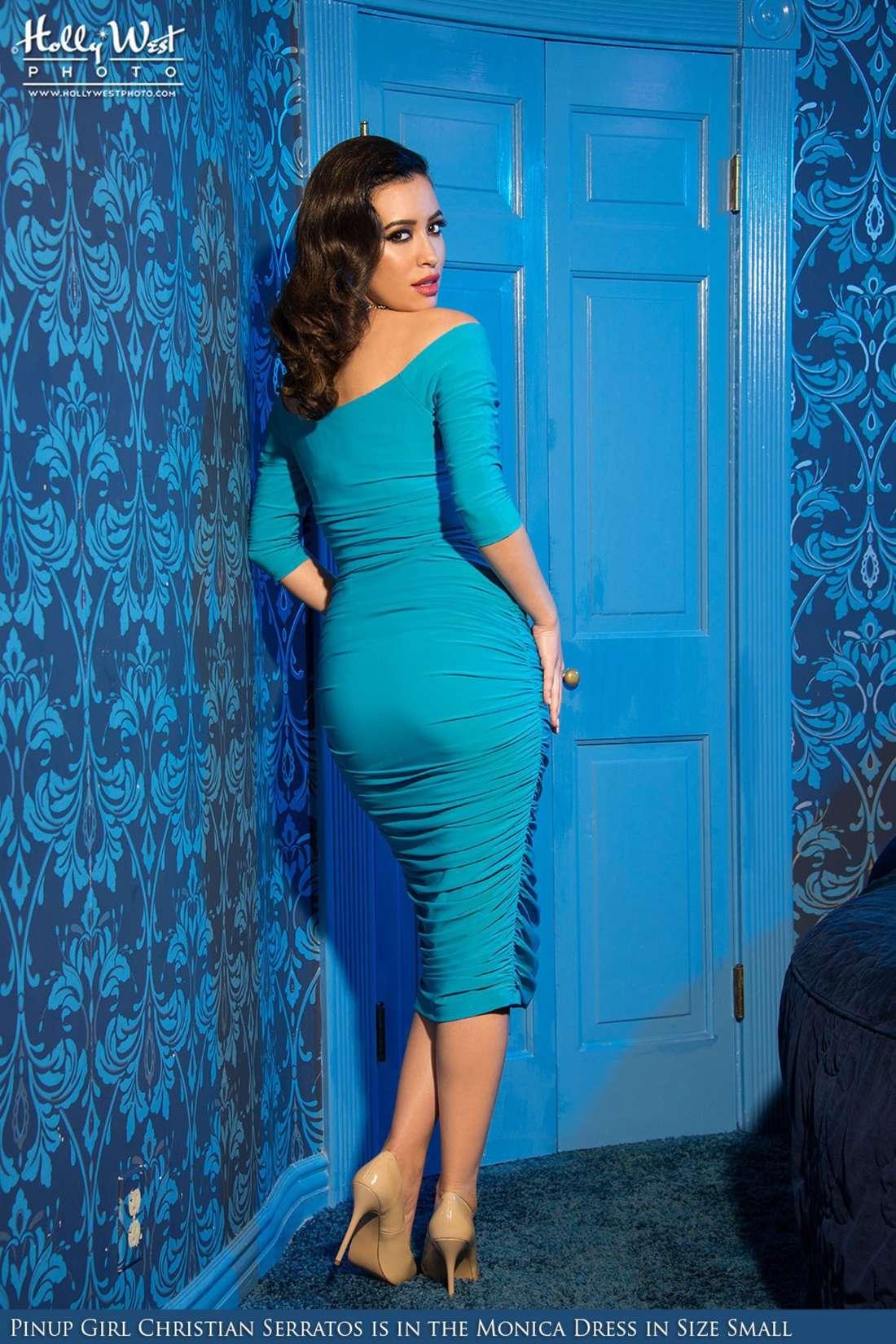 Christian Serratos Pinup Girl Clothing by Lori Anne