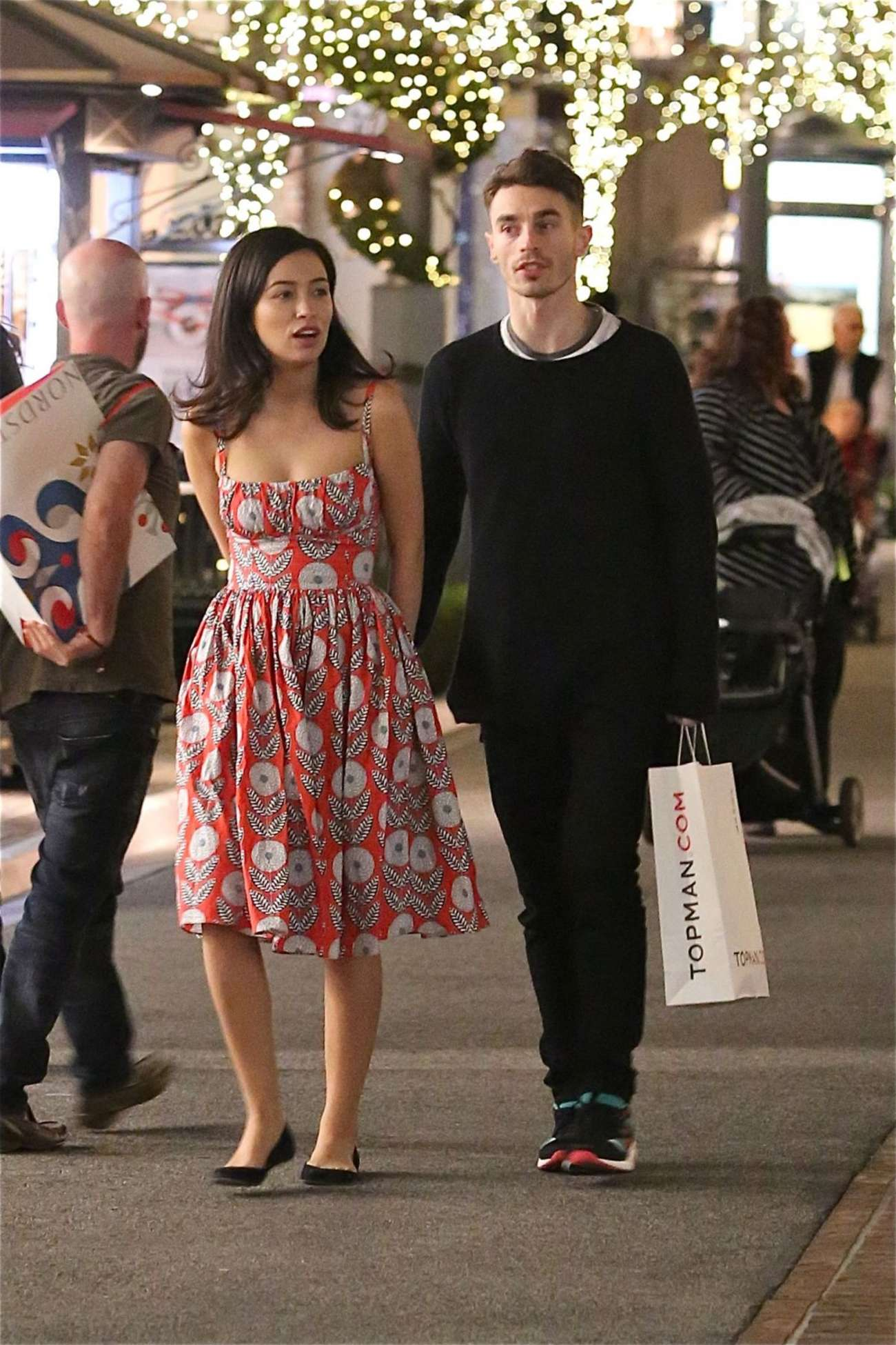 Christian Serratos with David Boyd Shopping in Los Angeles