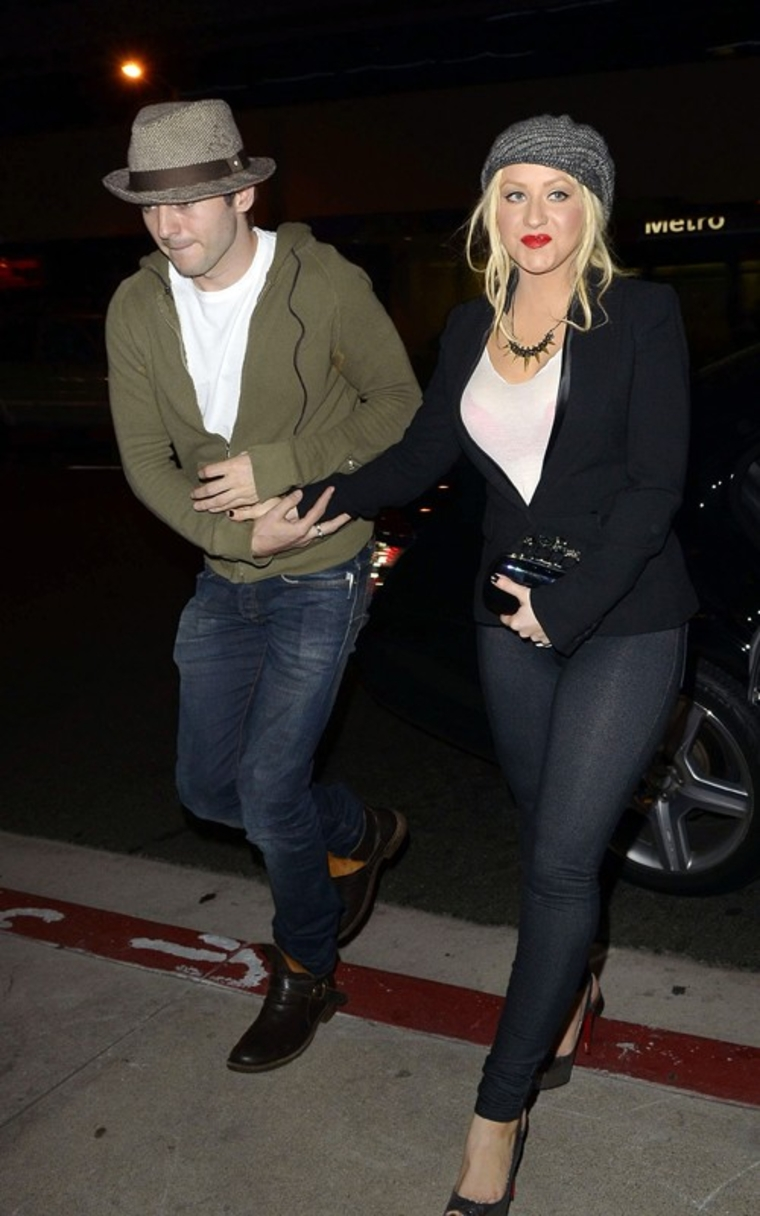 Christina Aguilera Candids at Boa Steakhouse