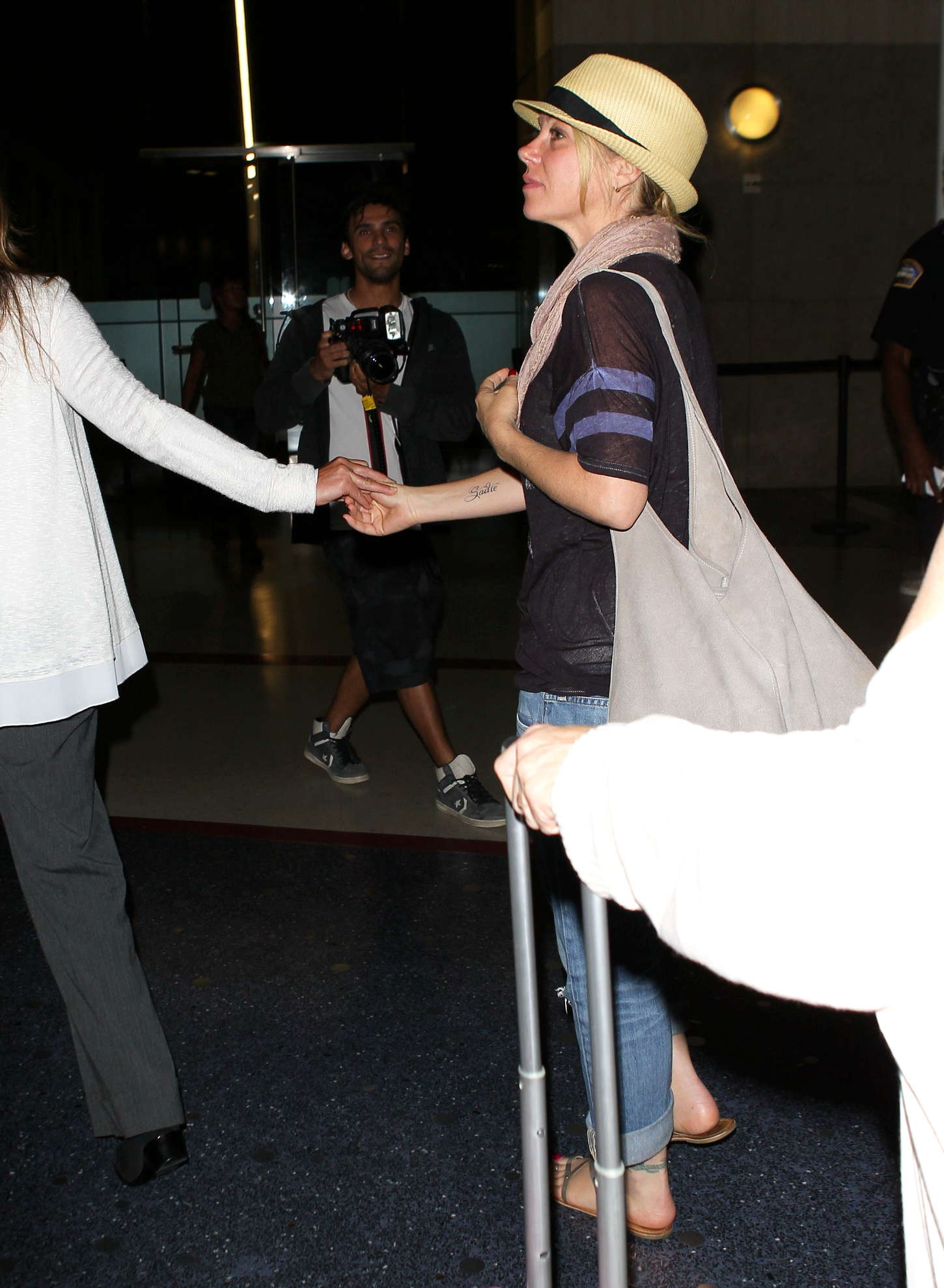 Christina Applegate LAX airport in Los Angeles