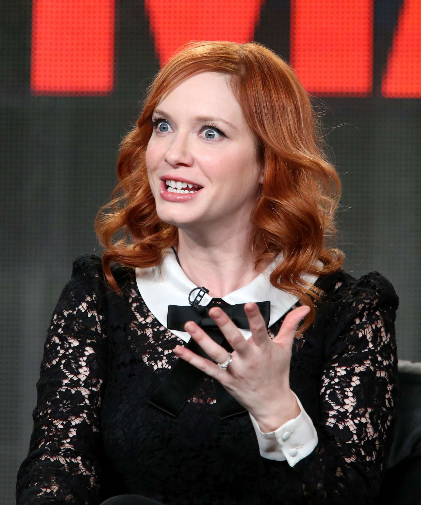Christina Hendricks Mad Men Panel TCA Press Tour in Pasadena