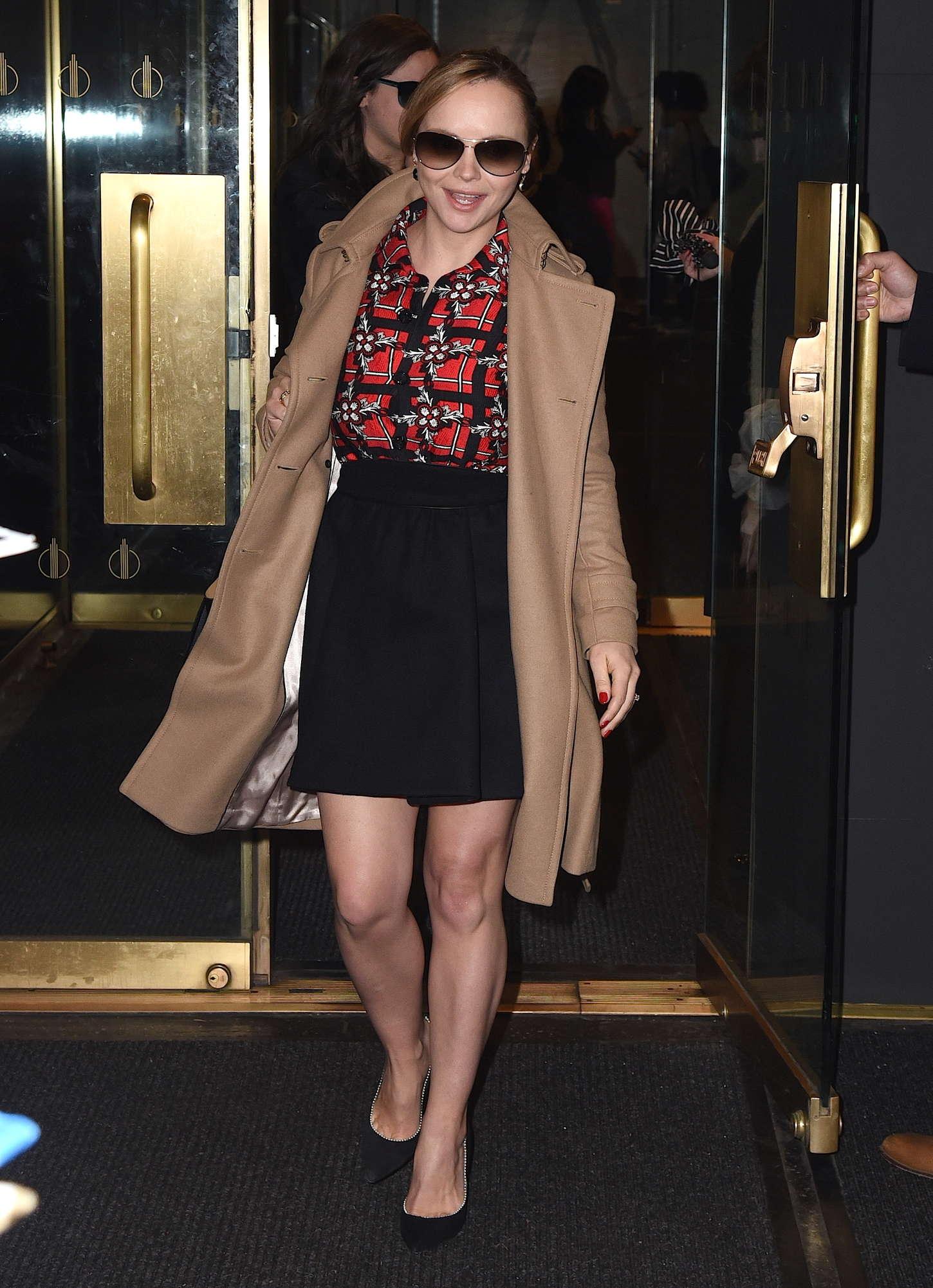 Christina Ricci Leaving NBC Studios in New York