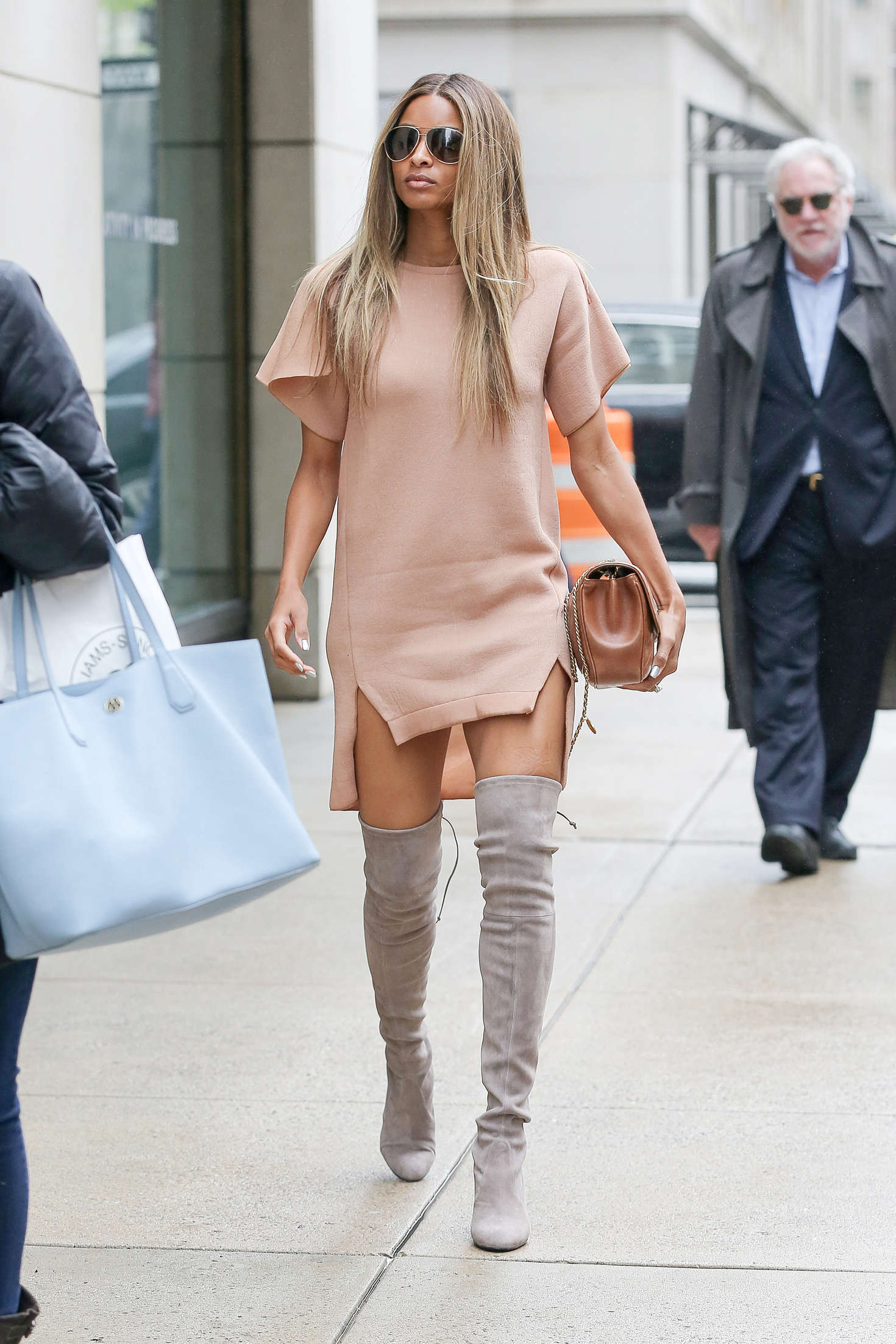 Ciara in Mini Dress Shopping at Barneys New York in New York