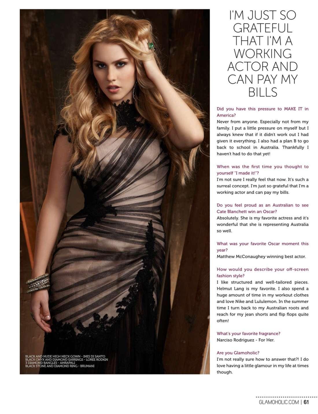 Claire Holt Glamoholic US Magazine