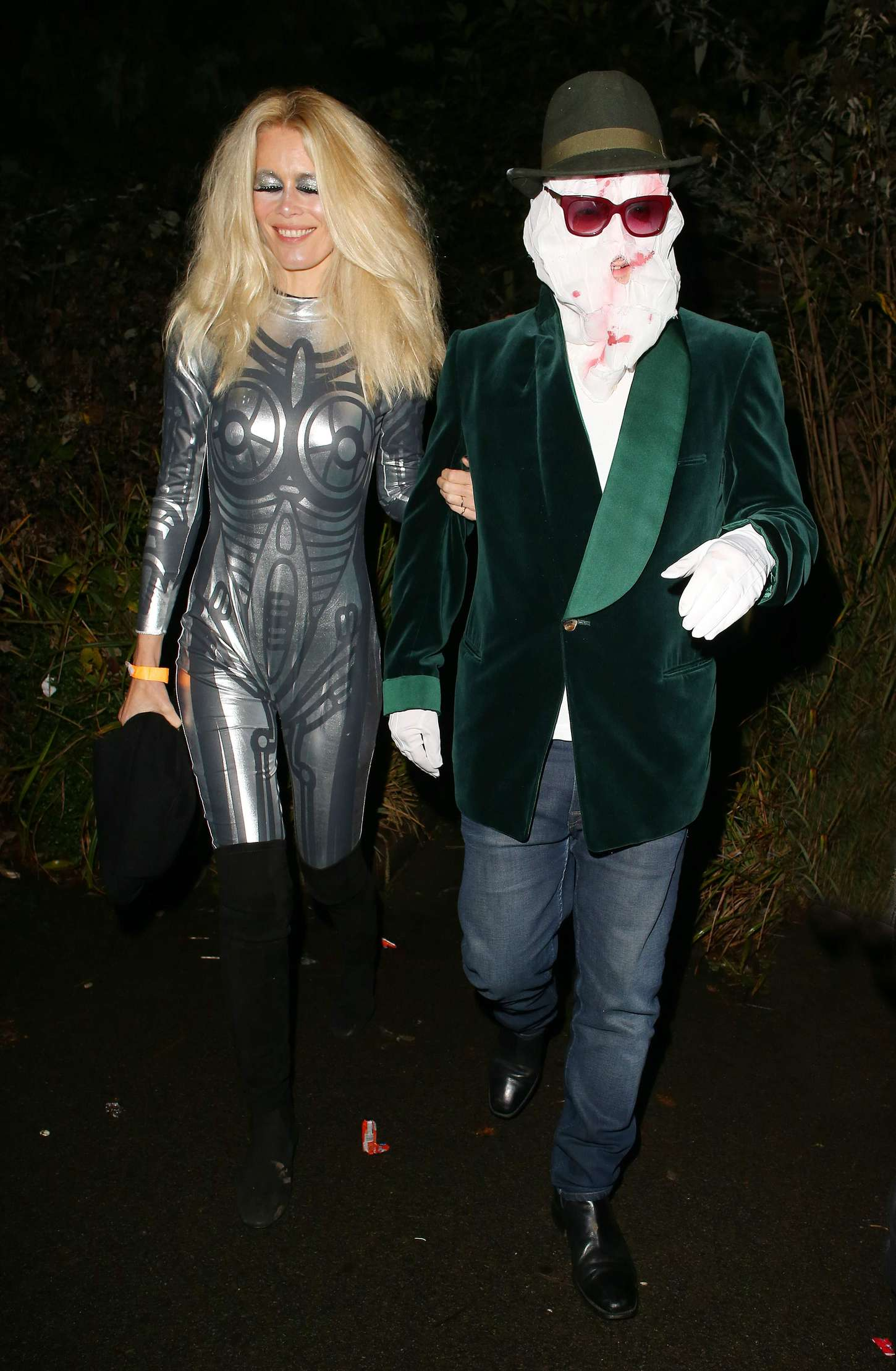 Claudia Schiffer Jonathan Rosss Halloween Party in London