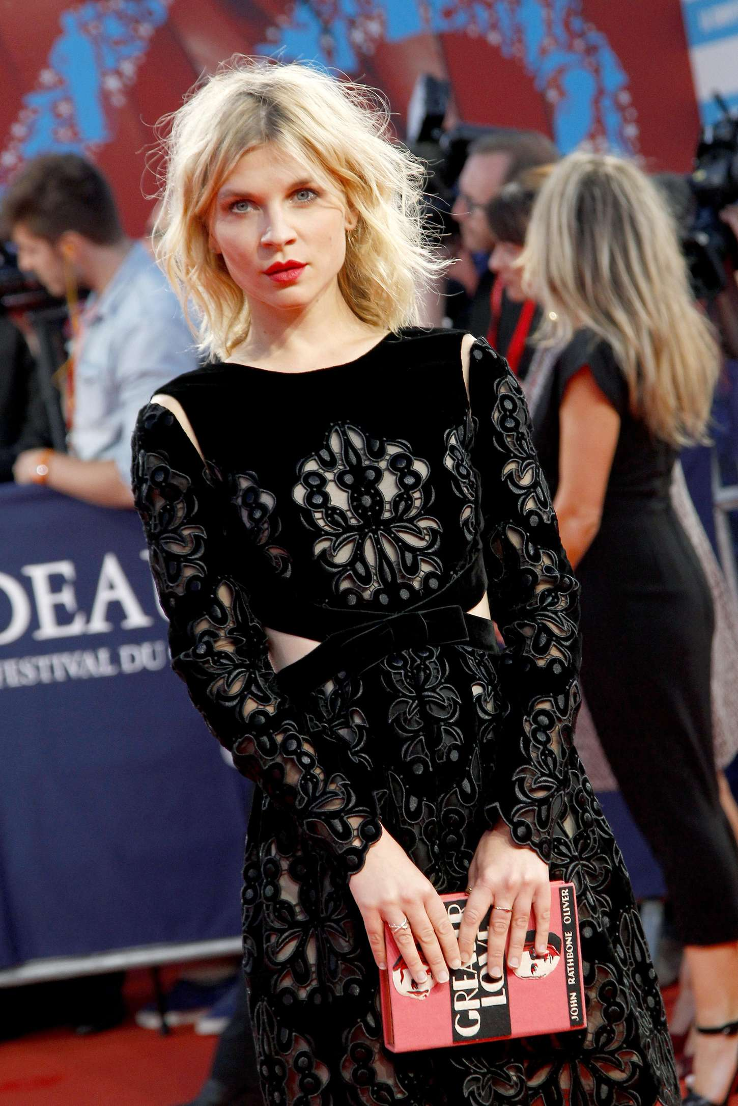 Clemence Poesy Get On Up Premiere in France