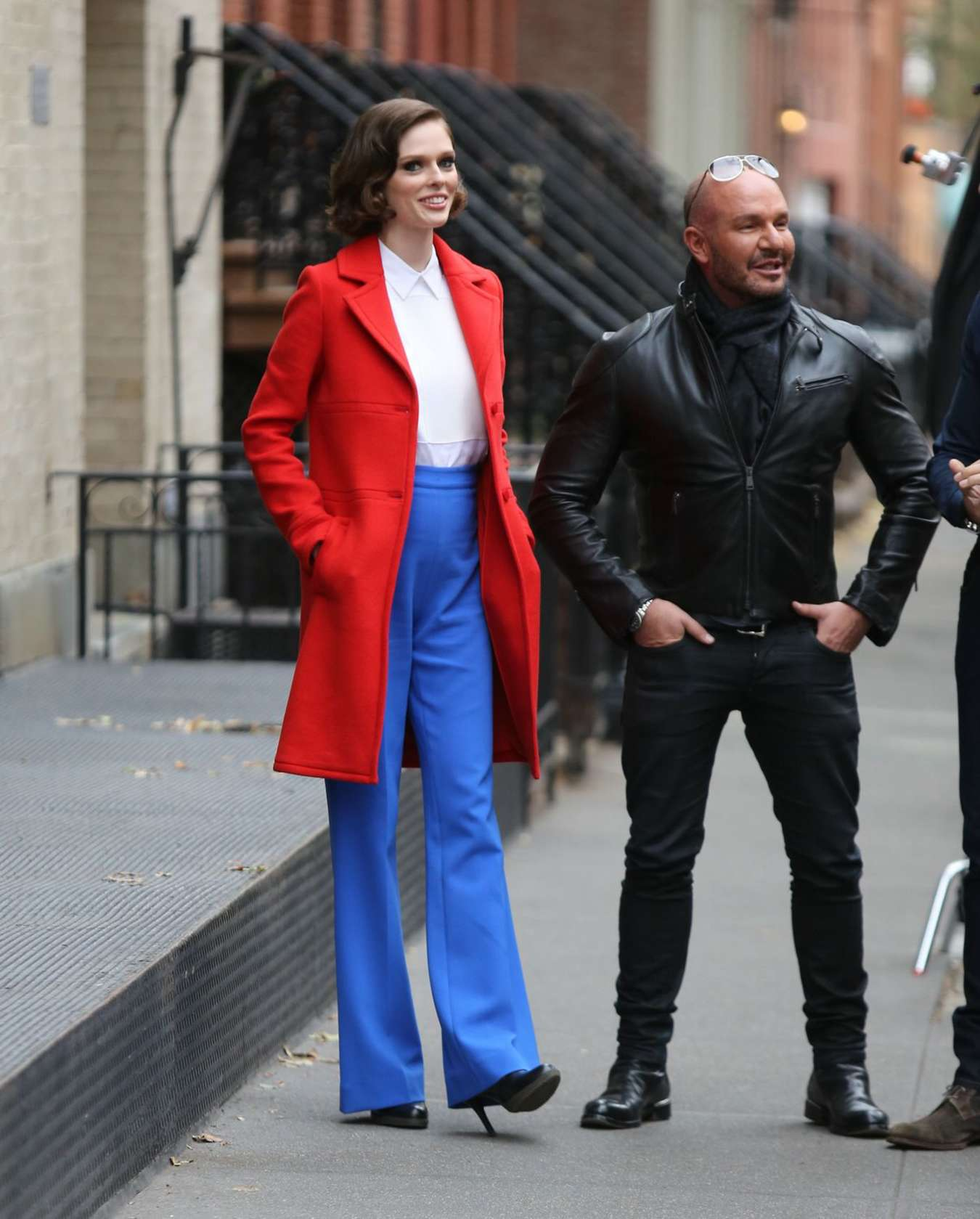 Coco Rocha on the set of The Face in New York