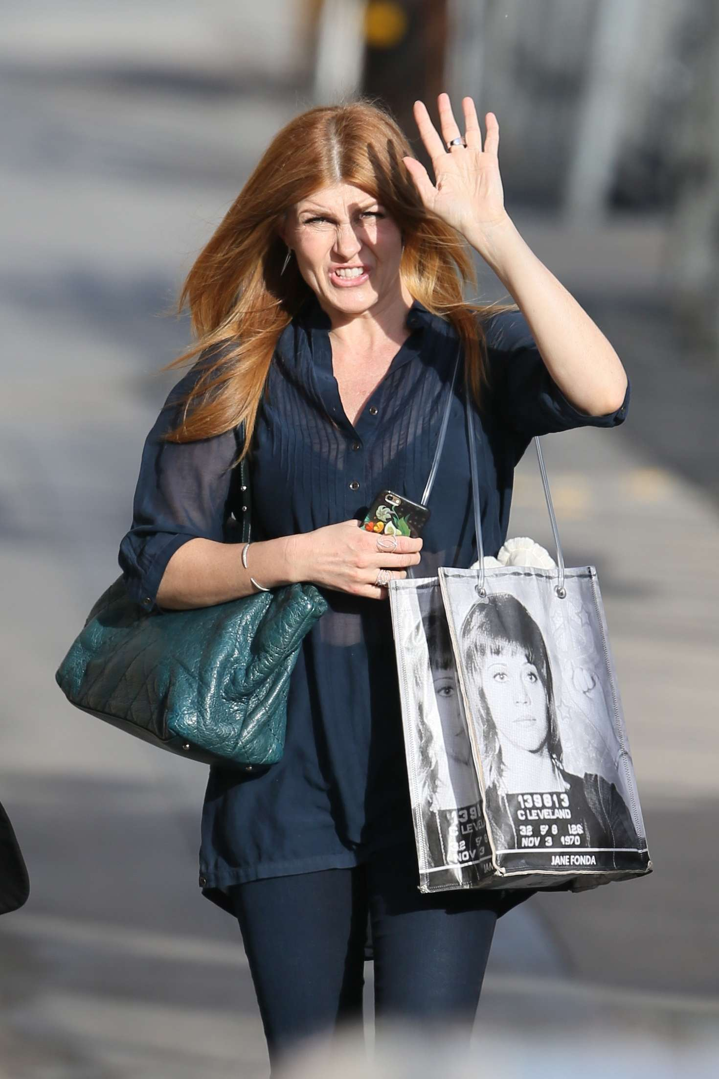 Connie Britton Arriving at the ABC Studios in Los Angeles