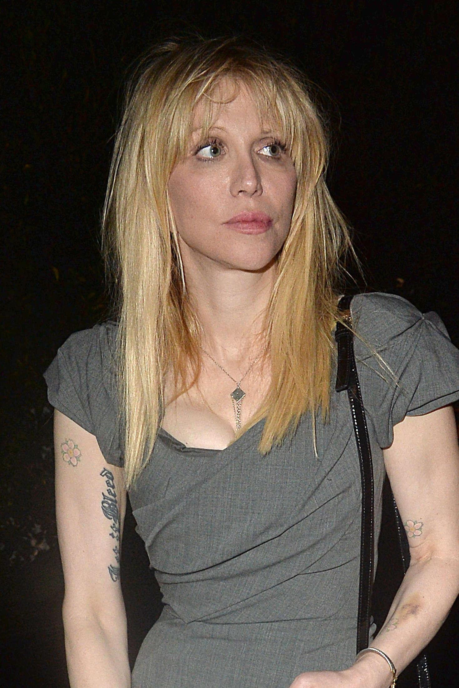 Courtney Love Leaves a Pre Oscar Talent Agency Party in Los Angeles