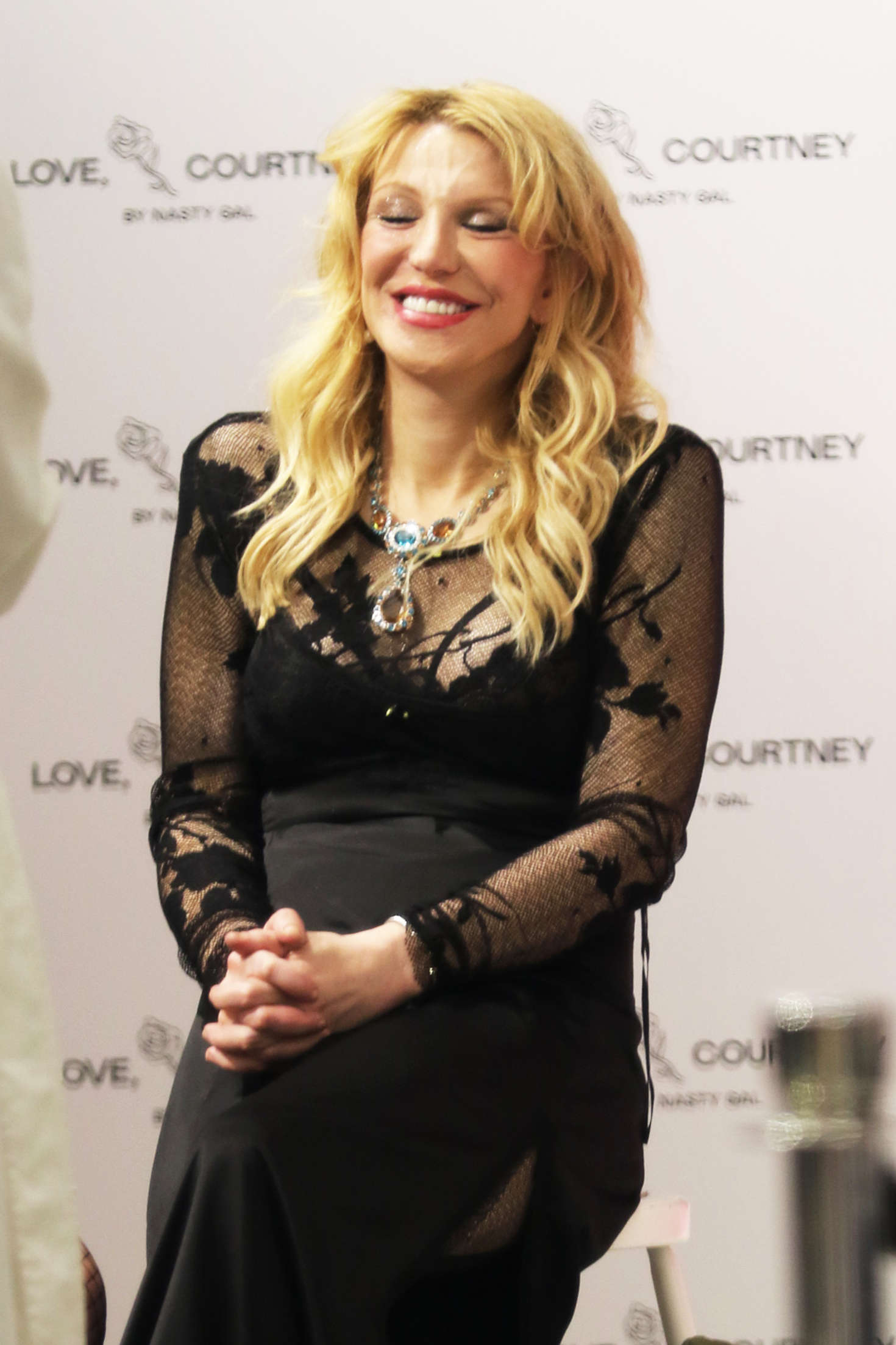 Courtney Love New Collection Launch at Nasty Gal in West Hollywood
