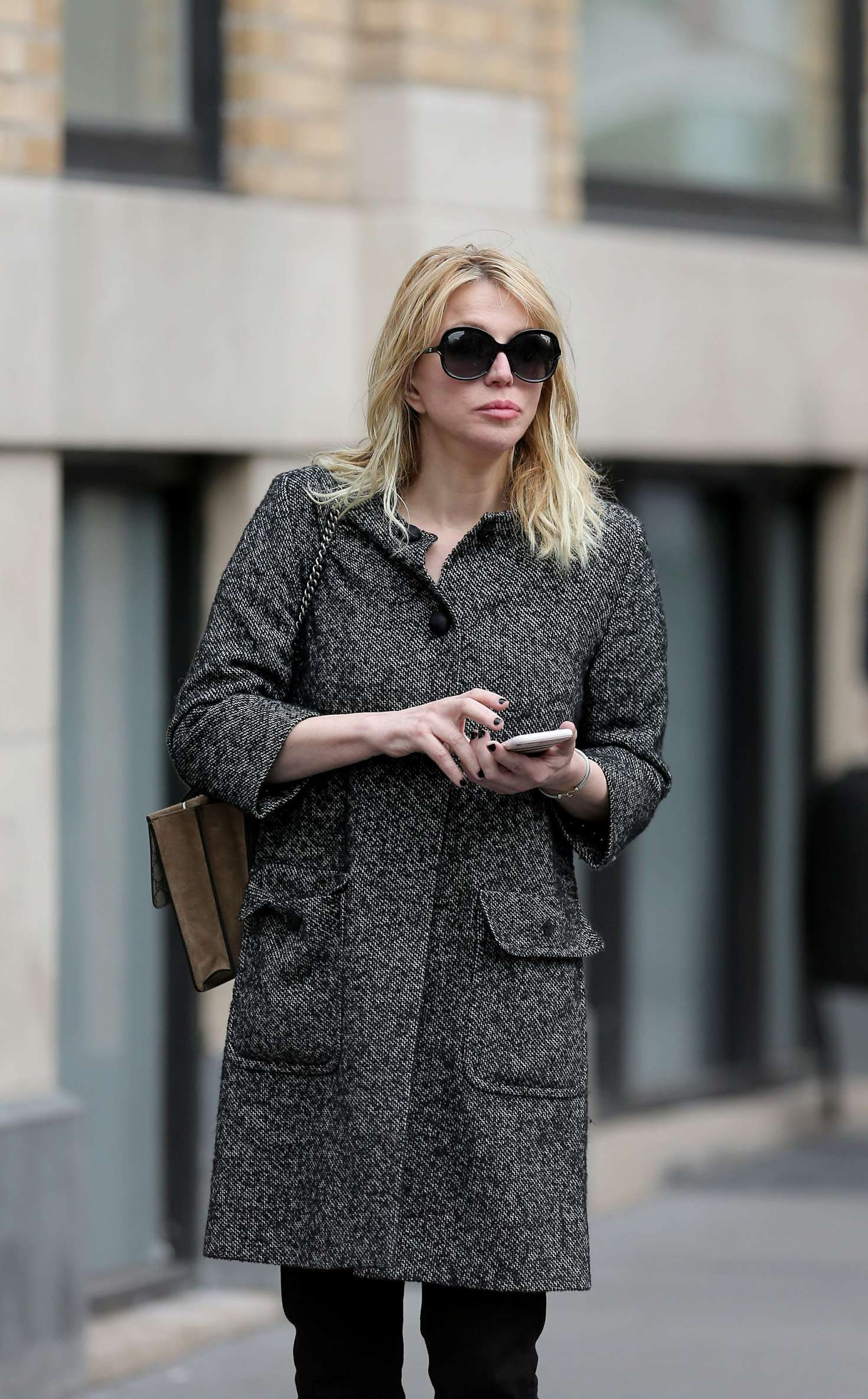 Courtney Love out in New York