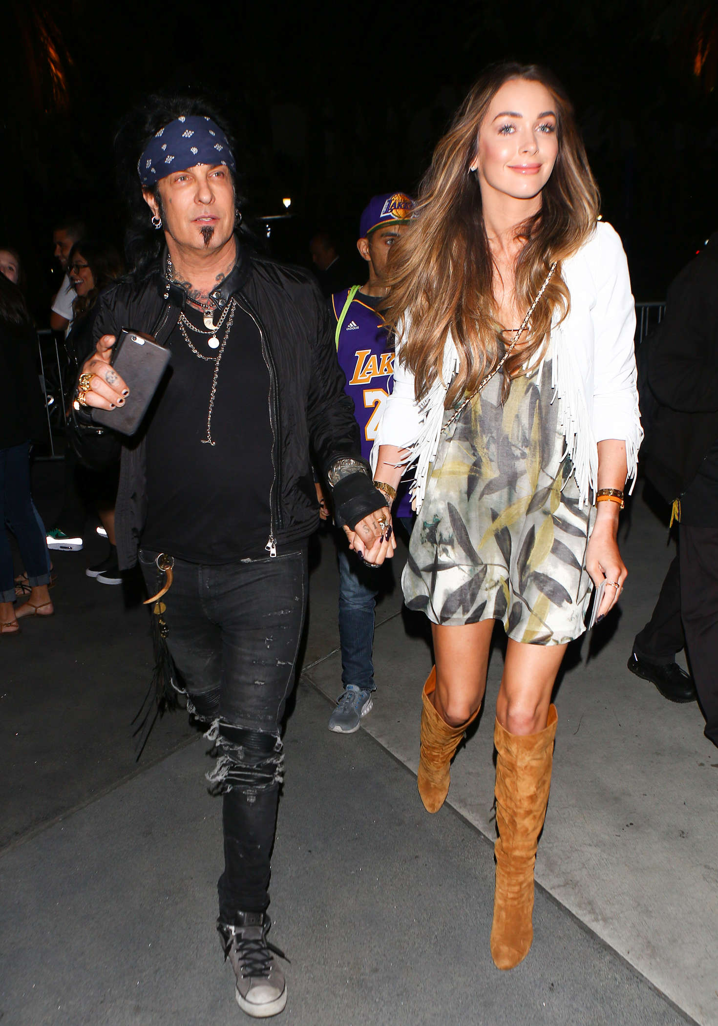 Courtney Sixx at Los Angeles Lakers Game in Los Angeles