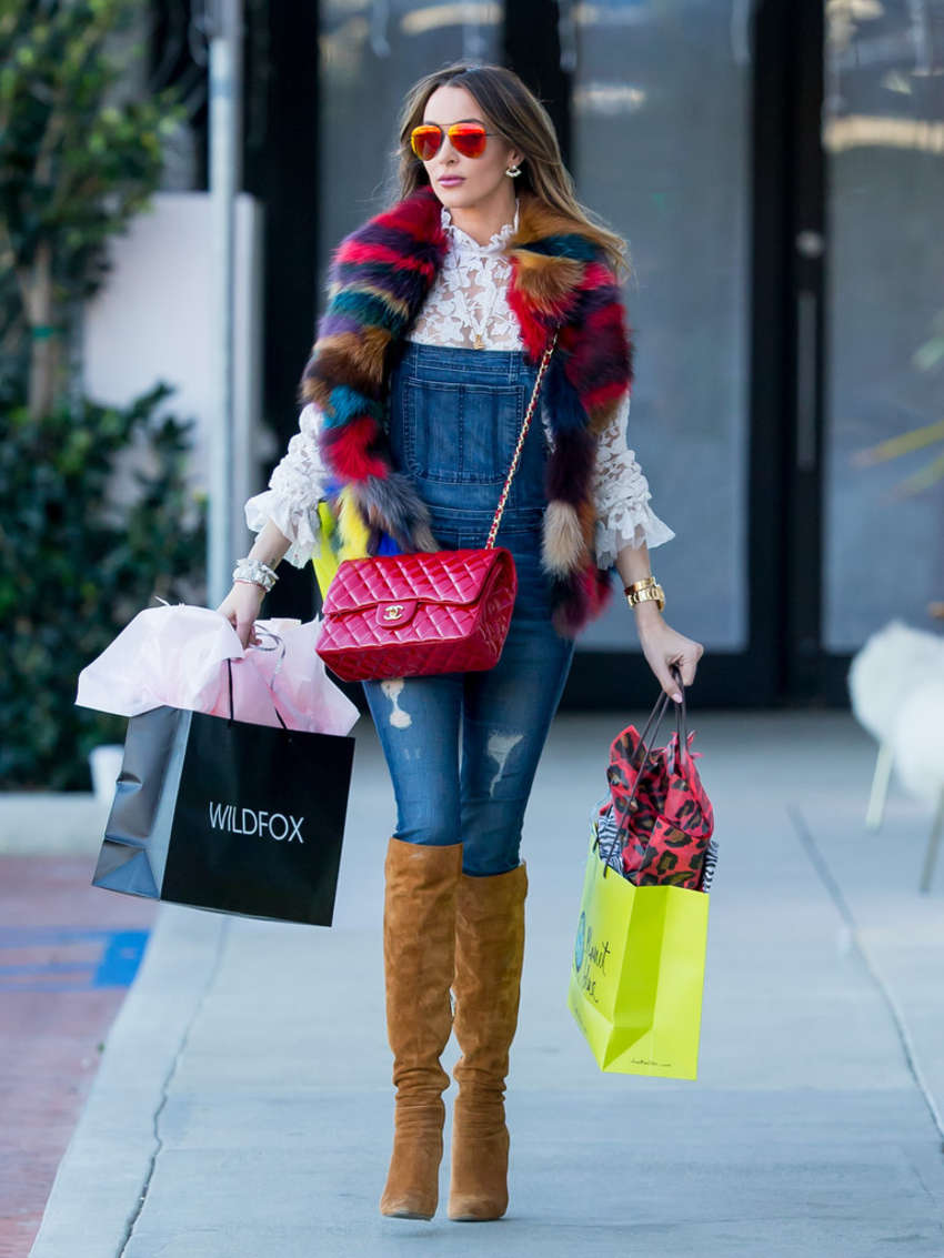 Courtney Sixx in Jeans Shopping in Beverly Hills