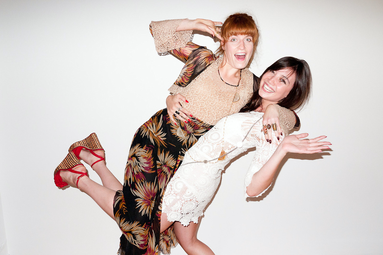 Daisy Lowe and Florence Welch Terry Richardson photoshoot