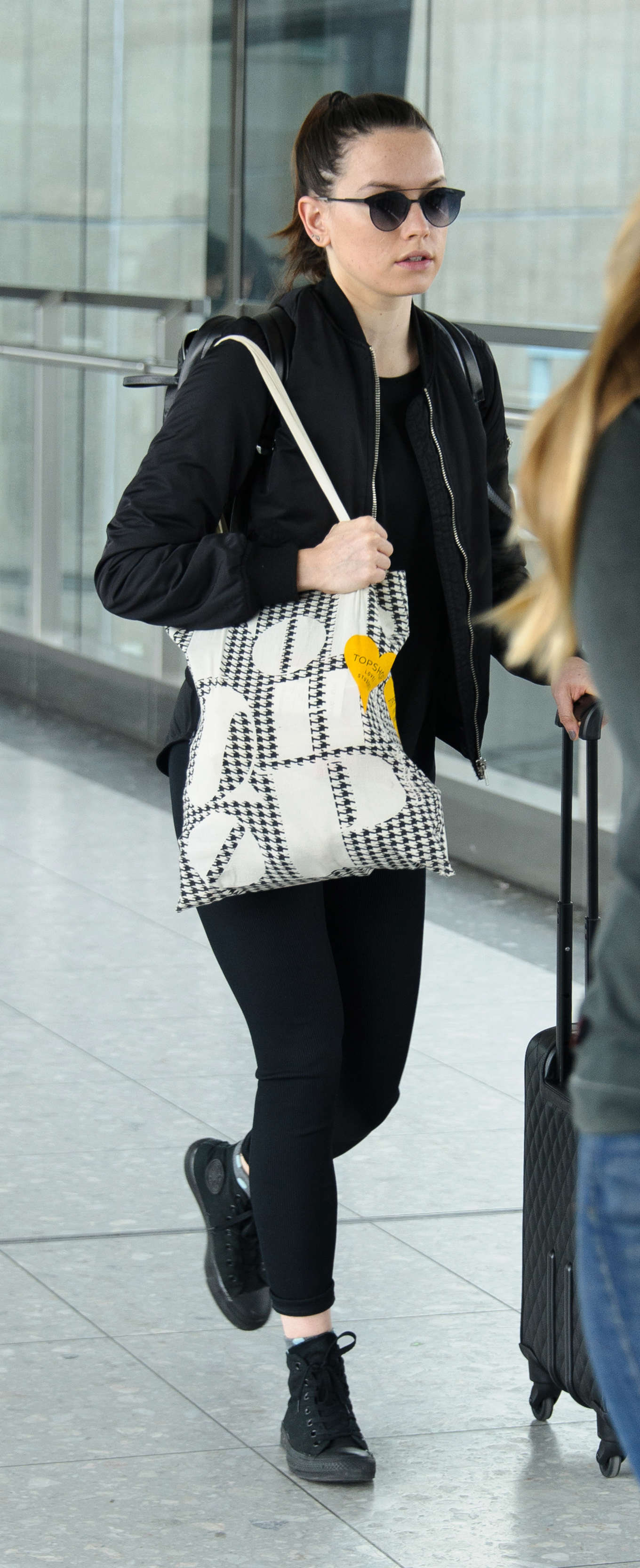 Daisy Ridley Heathrow Airport in London