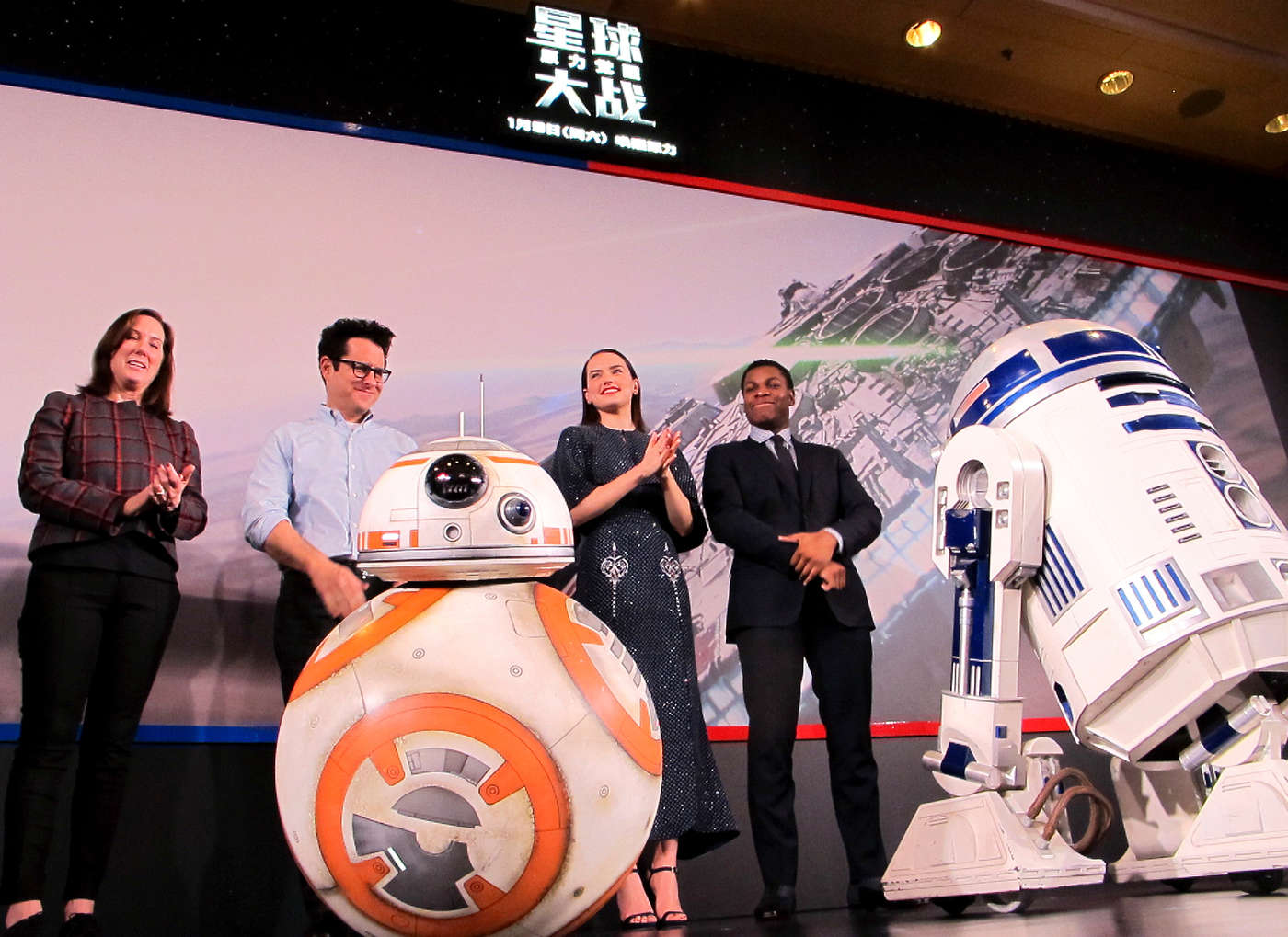 Daisy Ridley Star Wars The Force Awakens Photocall in Shanghai