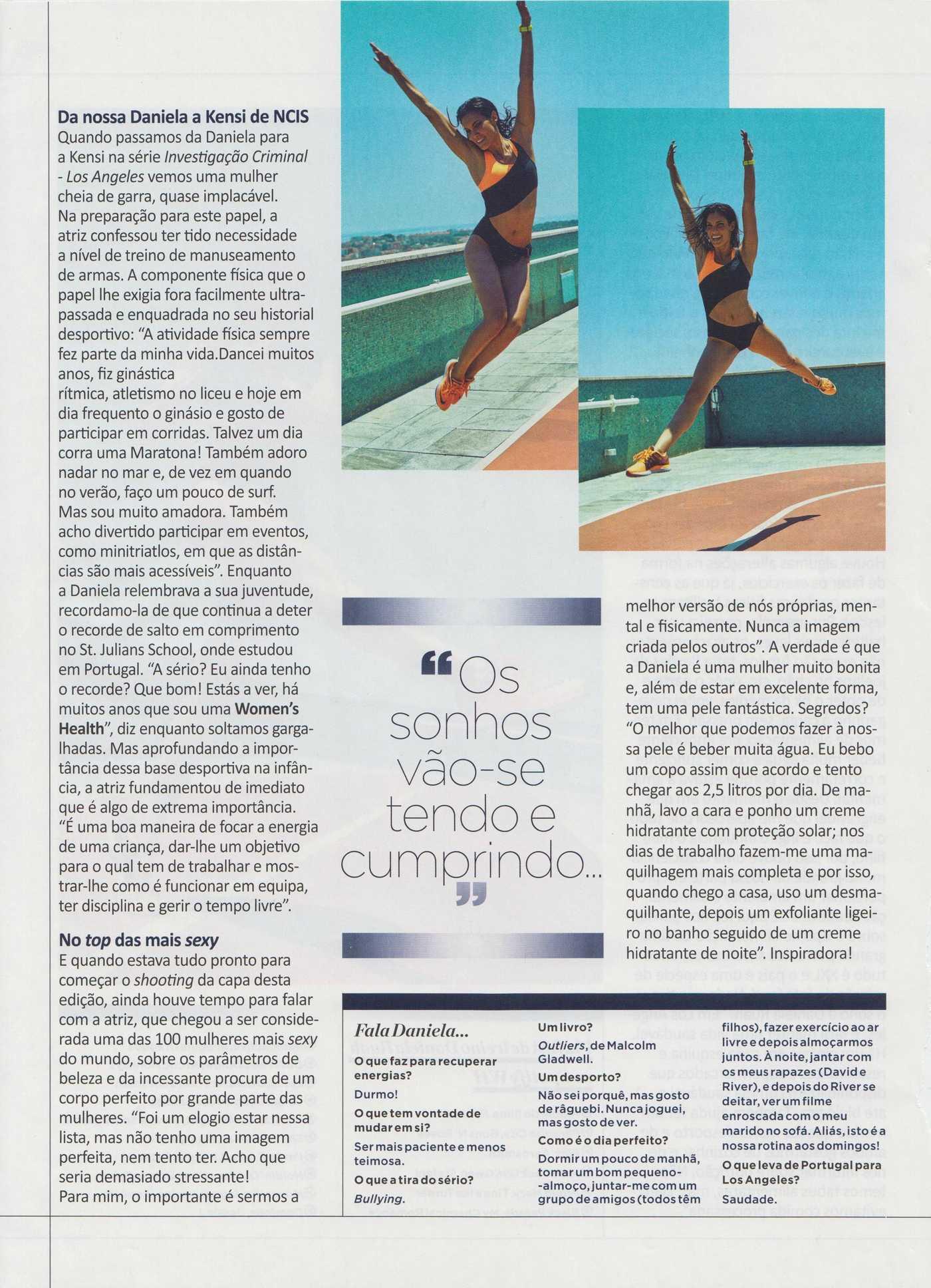 Daniela Ruah Womens Health Portugal