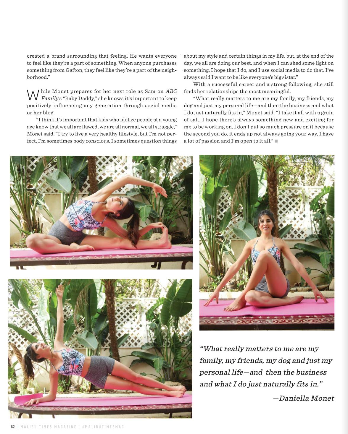Daniella Monet Malibu Times Magazine