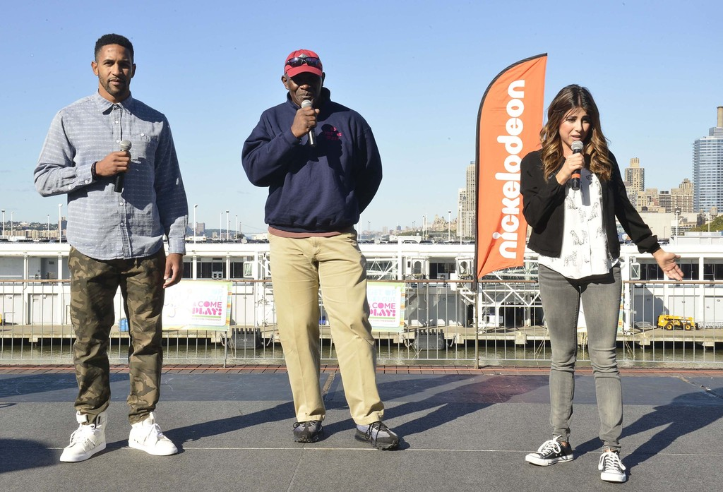 Daniella Monet Nickelodeon NFL Play at The Intrepid in New York