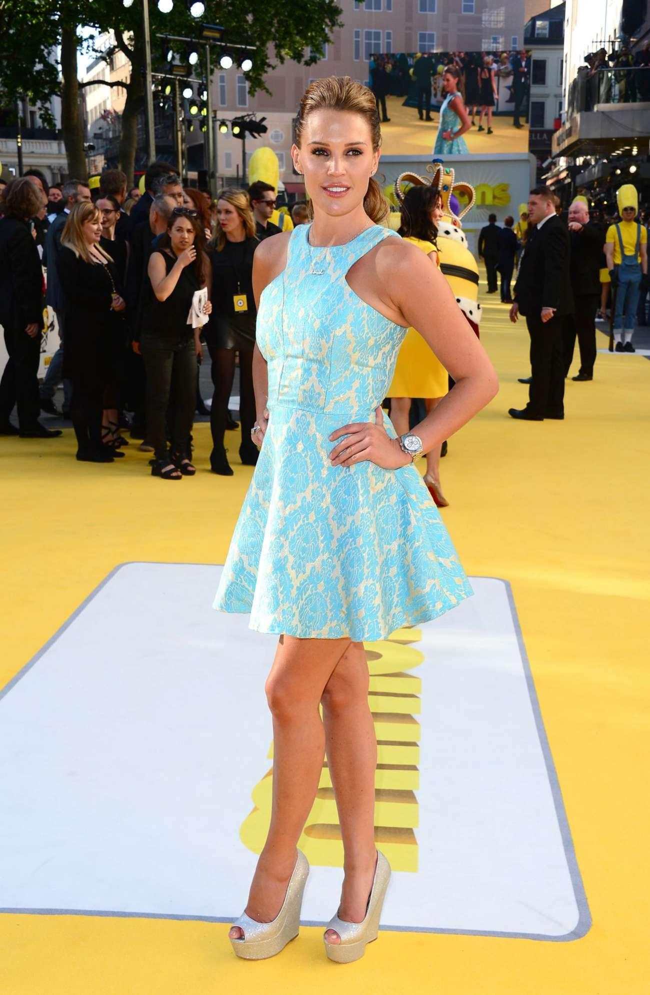 Danielle Lloyd Minions Premiere in London