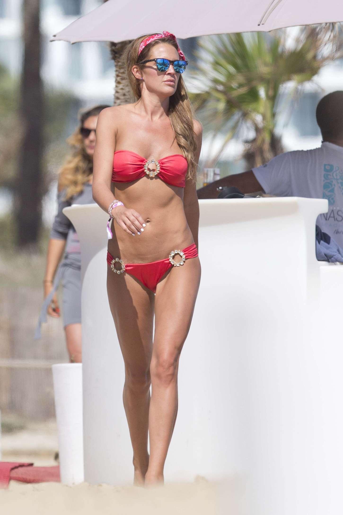 Danielle Lloyd Wearing Bikini in Ibiza