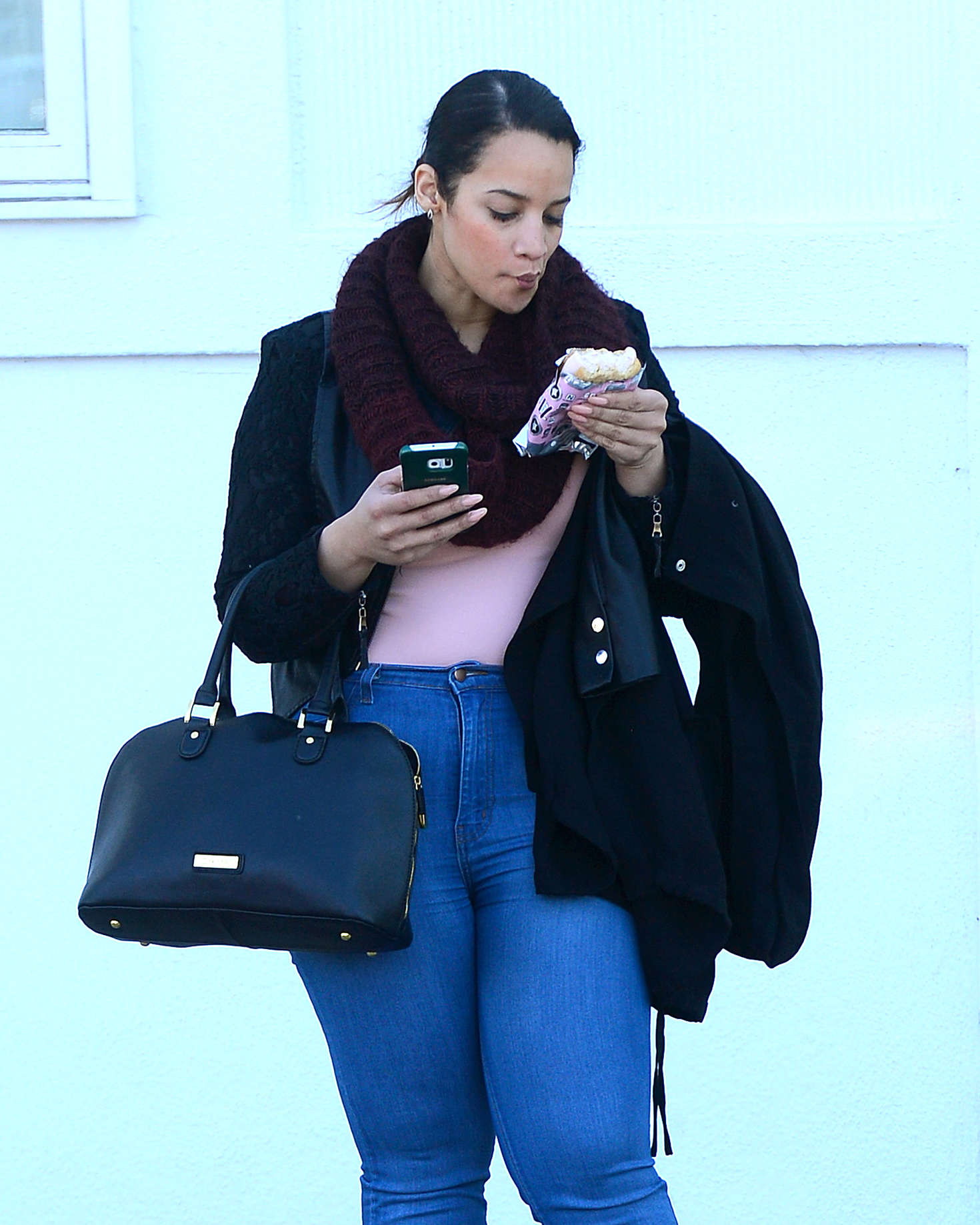 Dascha Polanco Leaves an Office in Los Angeles