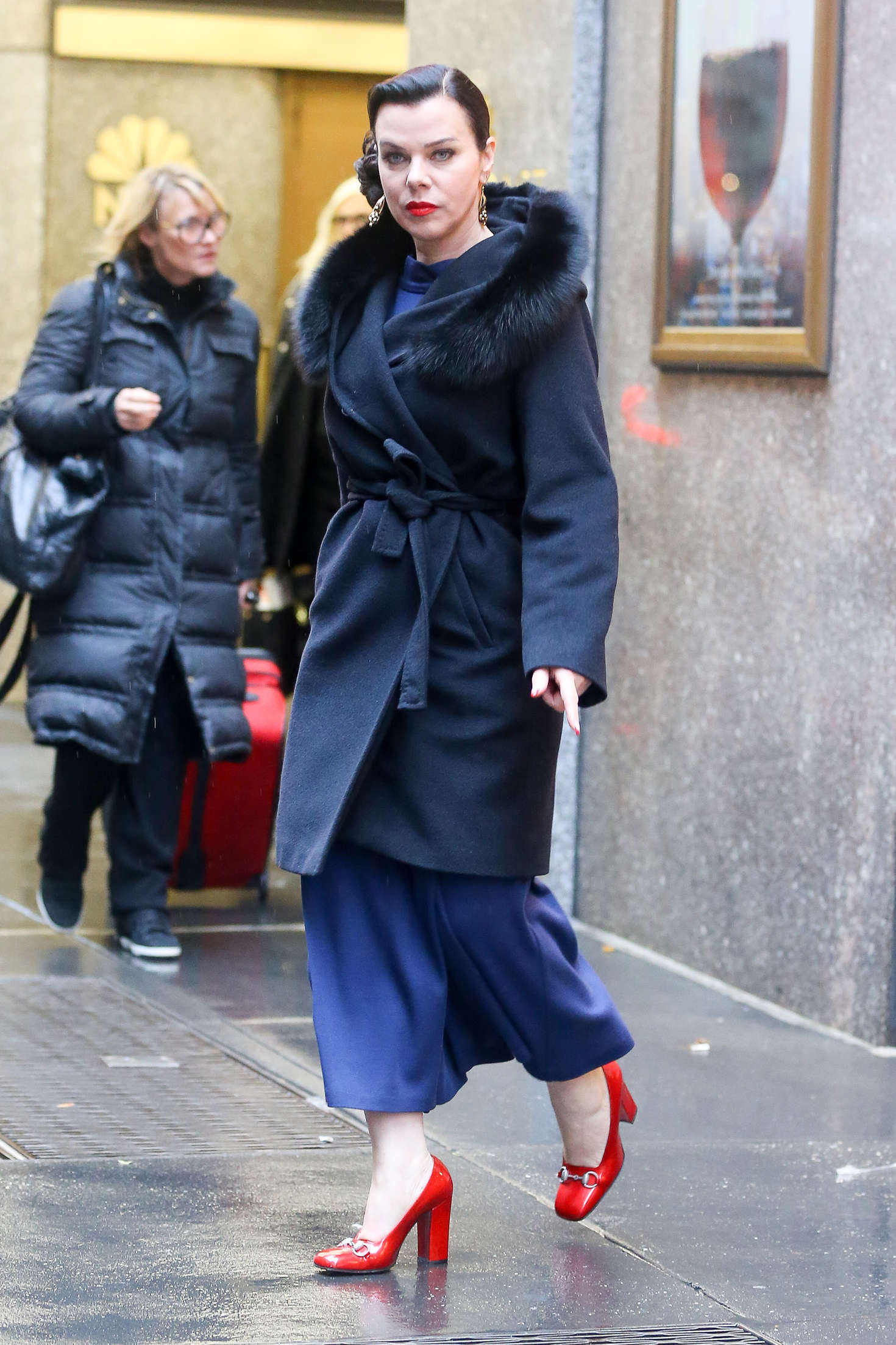 Debi Mazar Leaving the NBC Studios in New York City