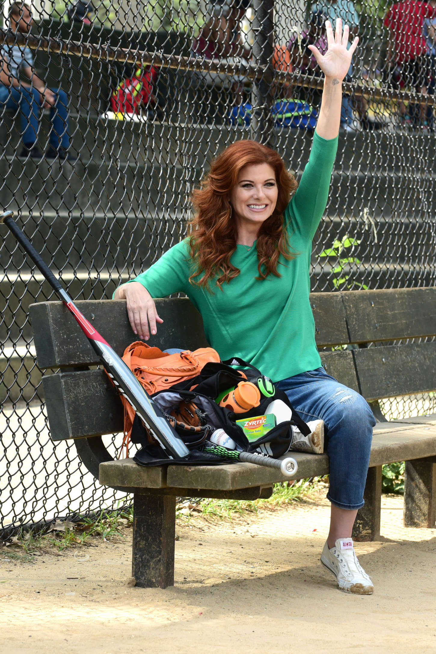 Debra Messing Baseball practice to watch her son in New York