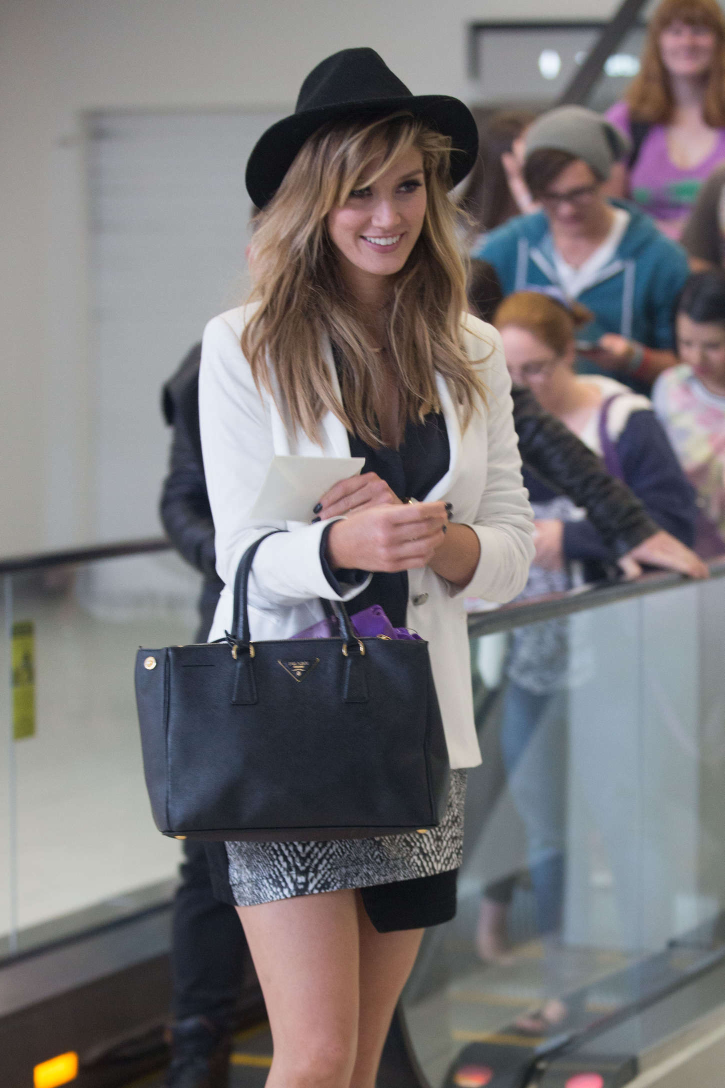 Delta Goodrem Arriving at Adelaide Airport