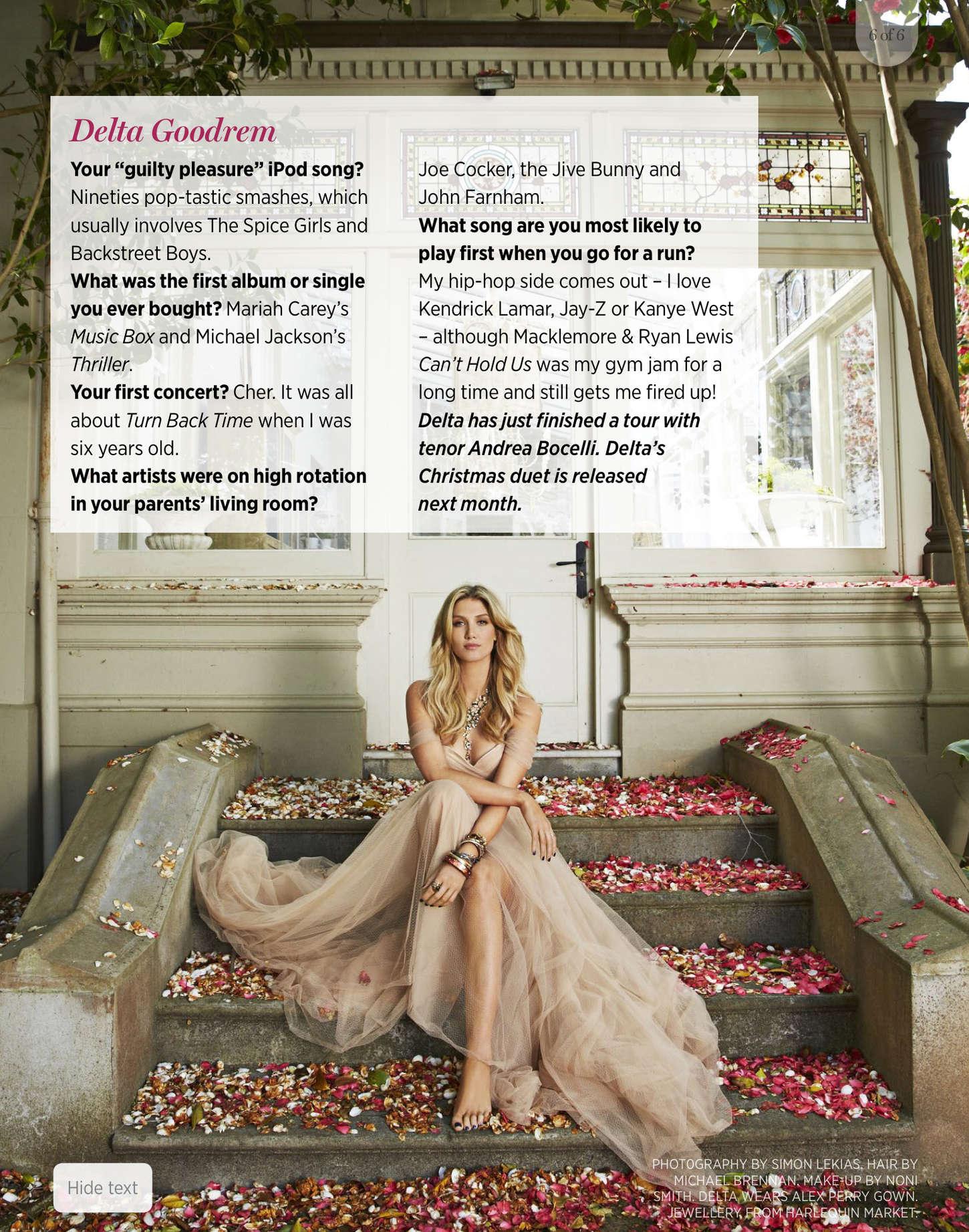 Delta Goodrem Women's Weekly Magazine