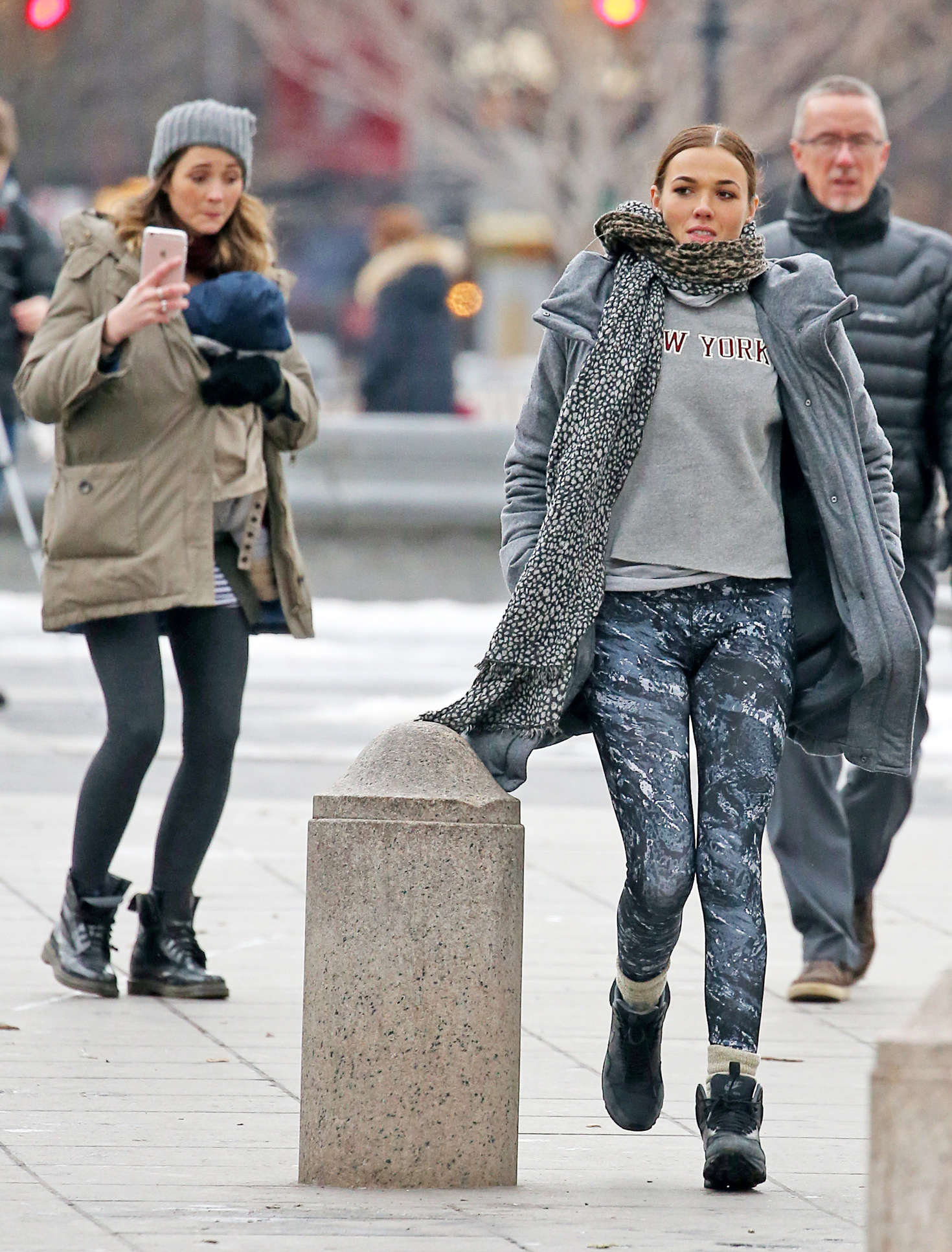 Demi Harman in Tights out in New York