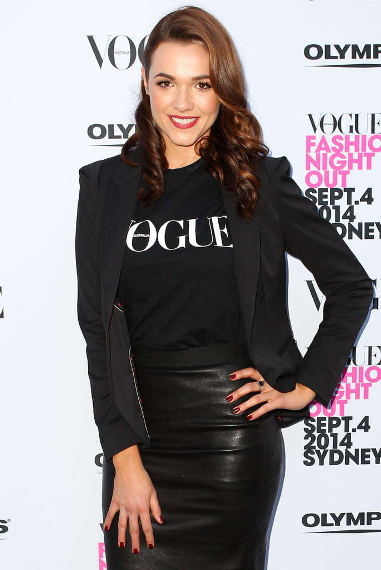 Demi Harman Launch of Fashions Night Out at Hyde Park in Sydney