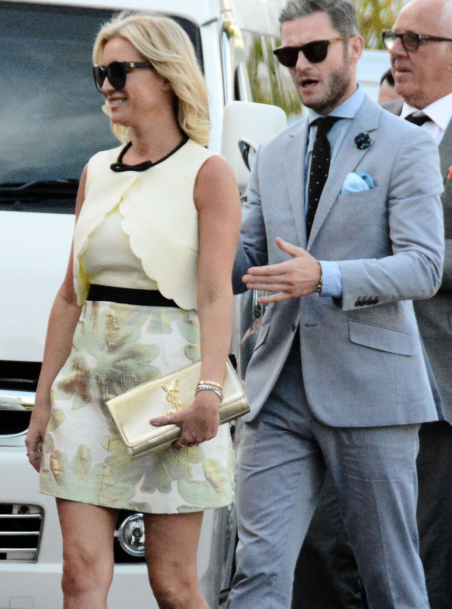 Denise van Outen at Kimberley Walshs Wedding in Barbados