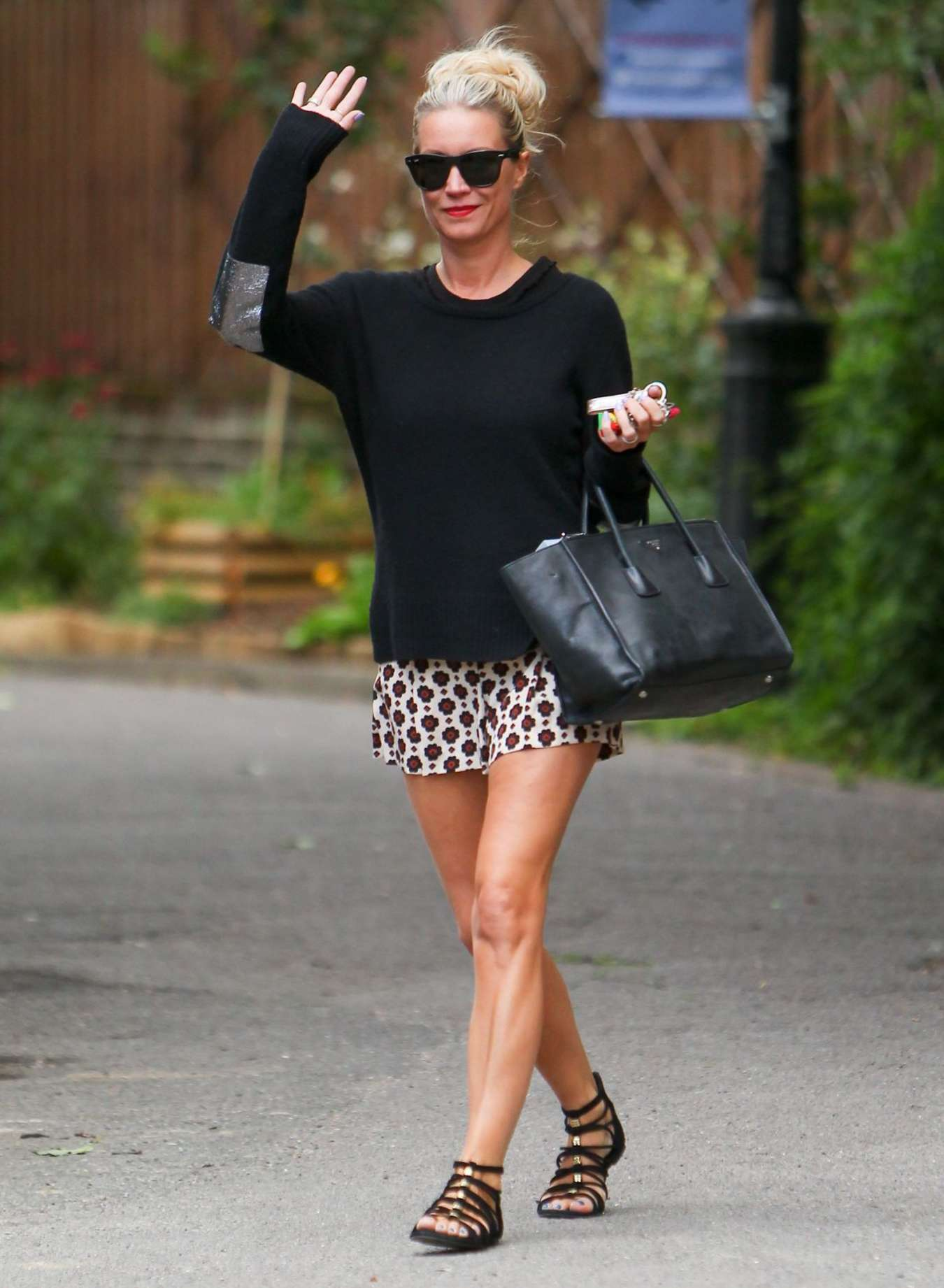 Denise Van Outen in Mini Skirt Out in London